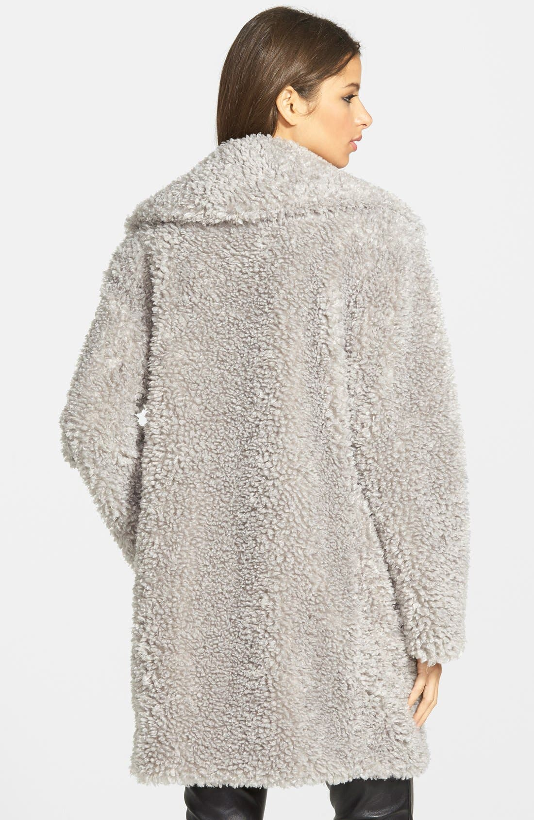 'Teddy Bear' Notch Collar Reversible Faux Fur Coat,                             Alternate thumbnail 12, color,