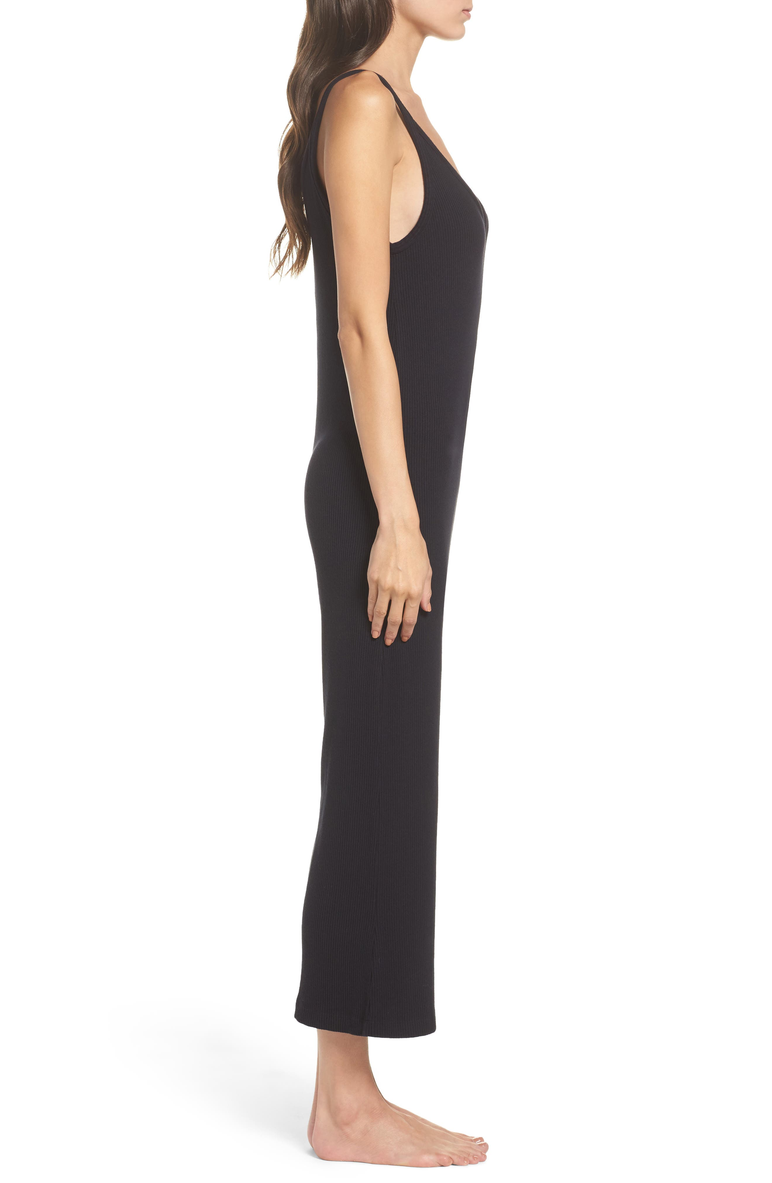 Naomi Knit Lounge Jumpsuit,                             Alternate thumbnail 3, color,                             009