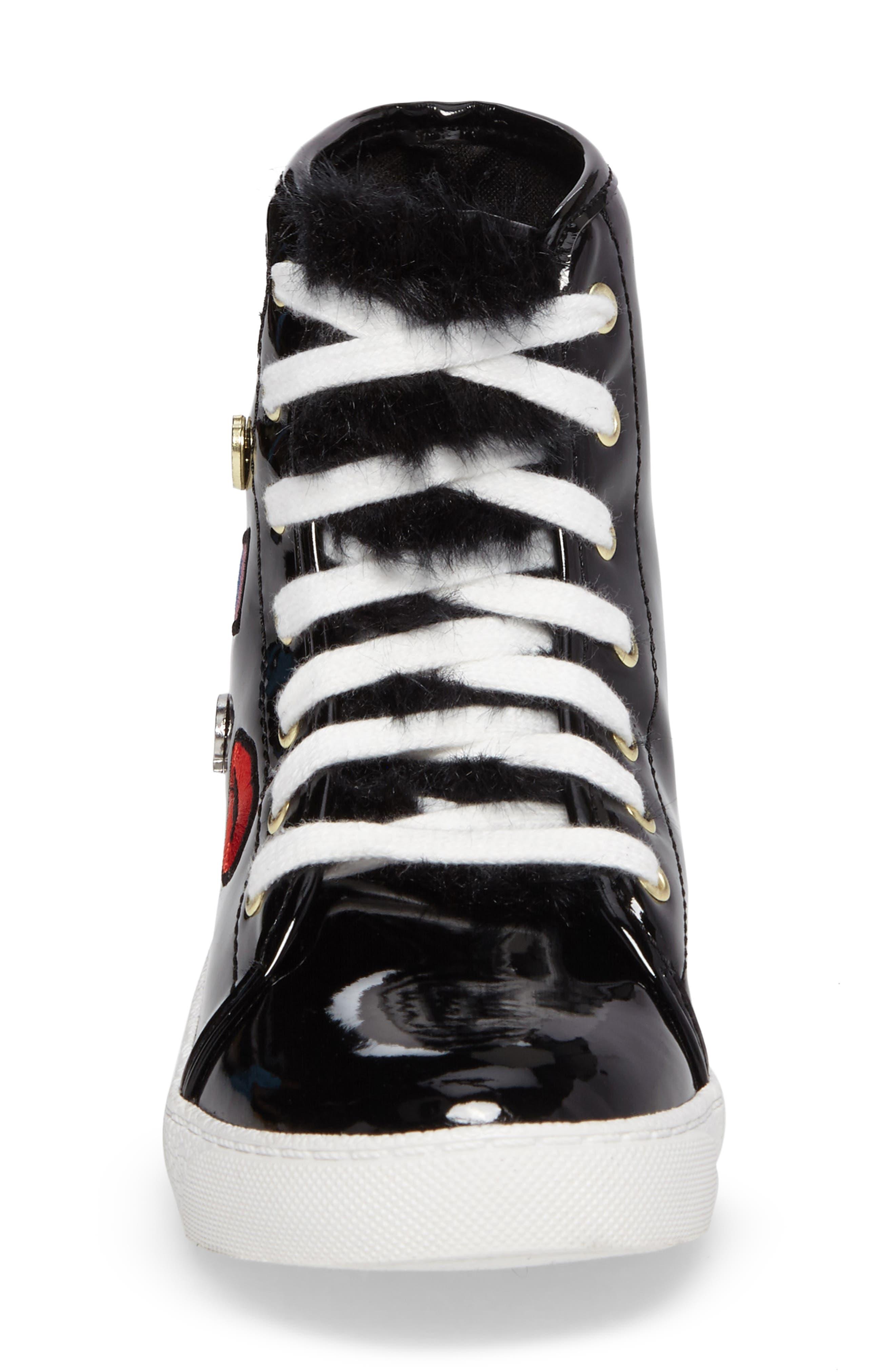 Harriet Heidi High-Top Sneaker,                             Alternate thumbnail 4, color,                             001