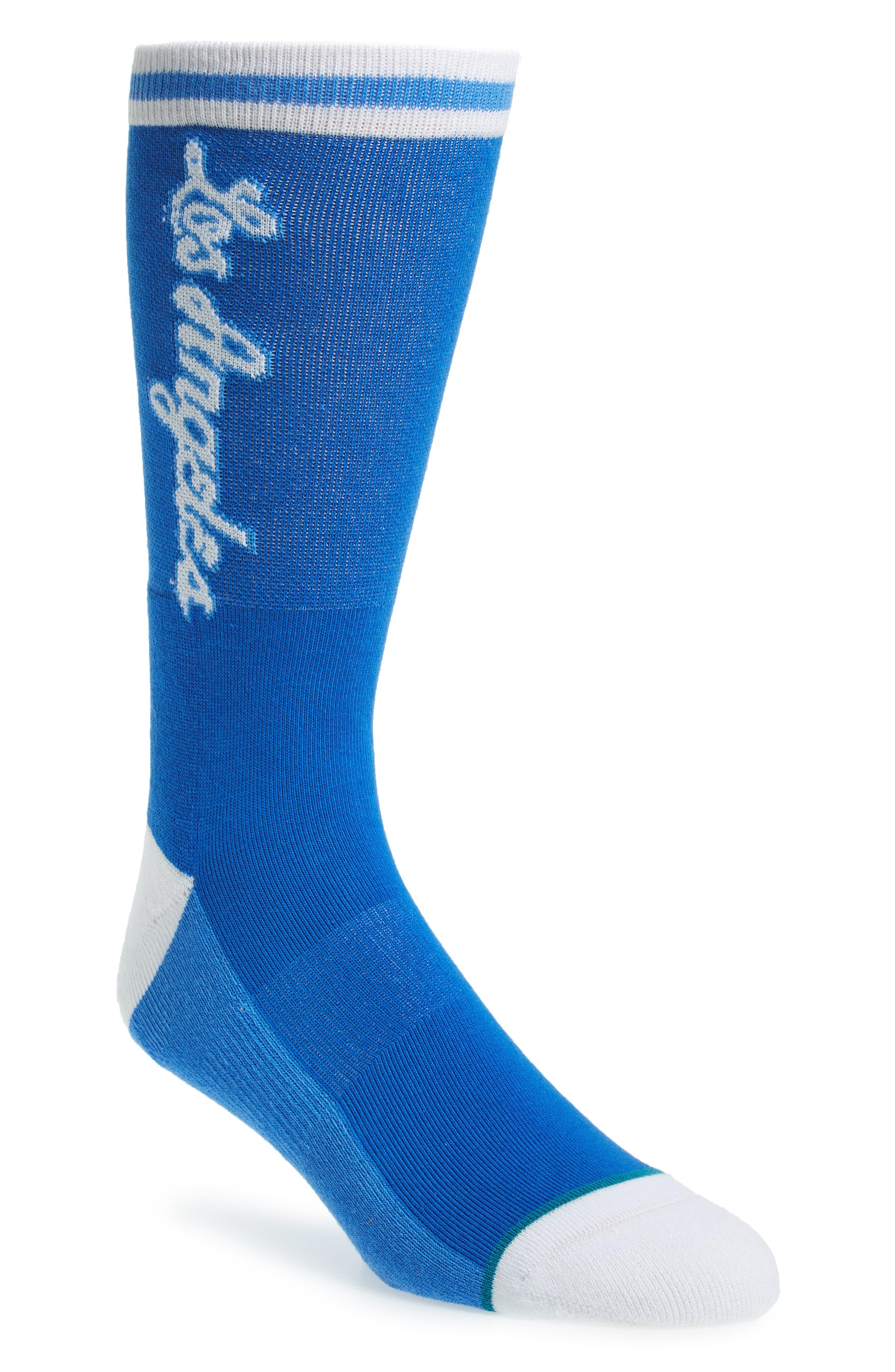 NBA Hardwood Los Angeles Lakers Socks,                         Main,                         color, 420