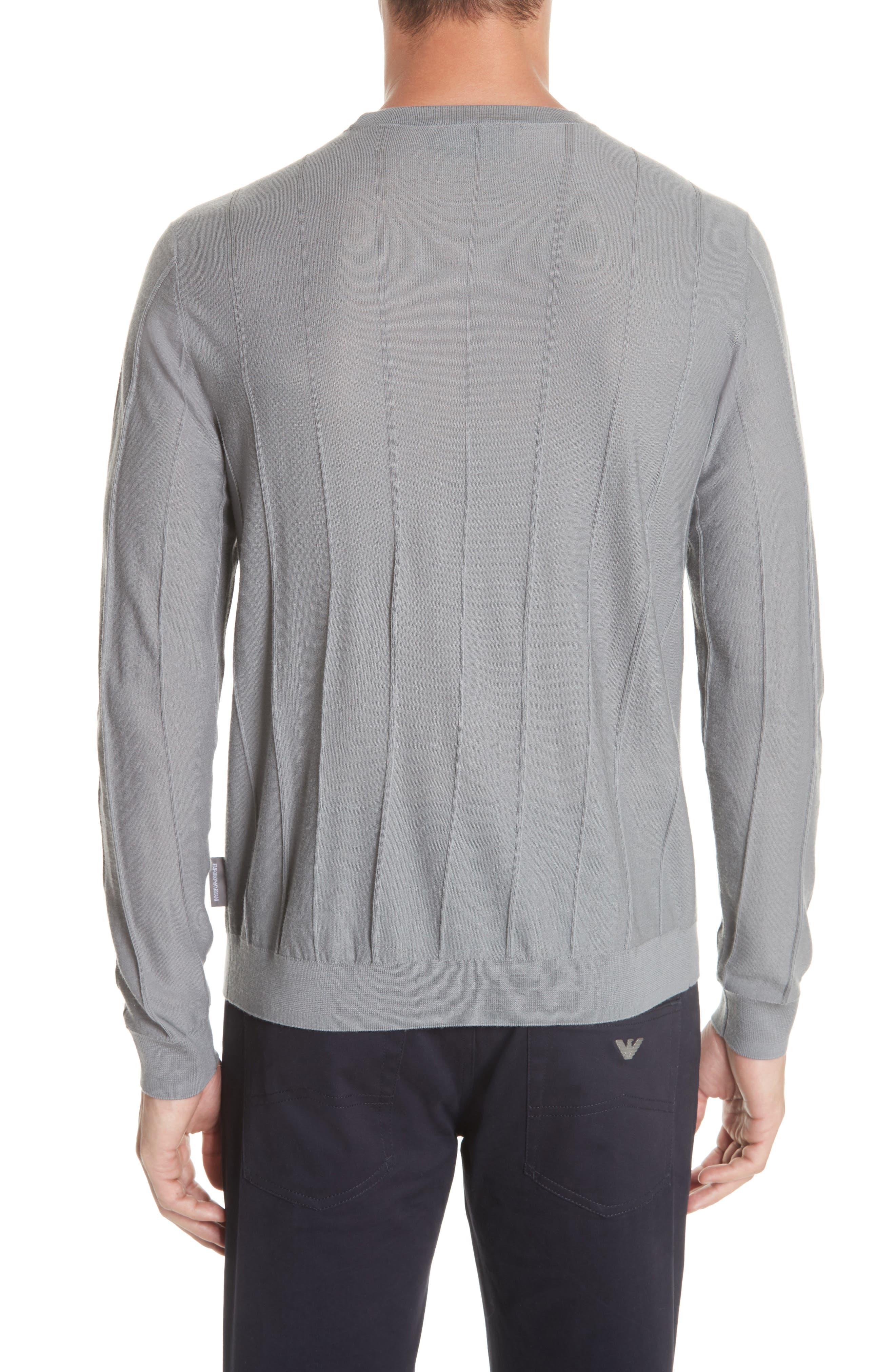 Crewneck Wool Sweater,                             Alternate thumbnail 2, color,                             GRIGIO