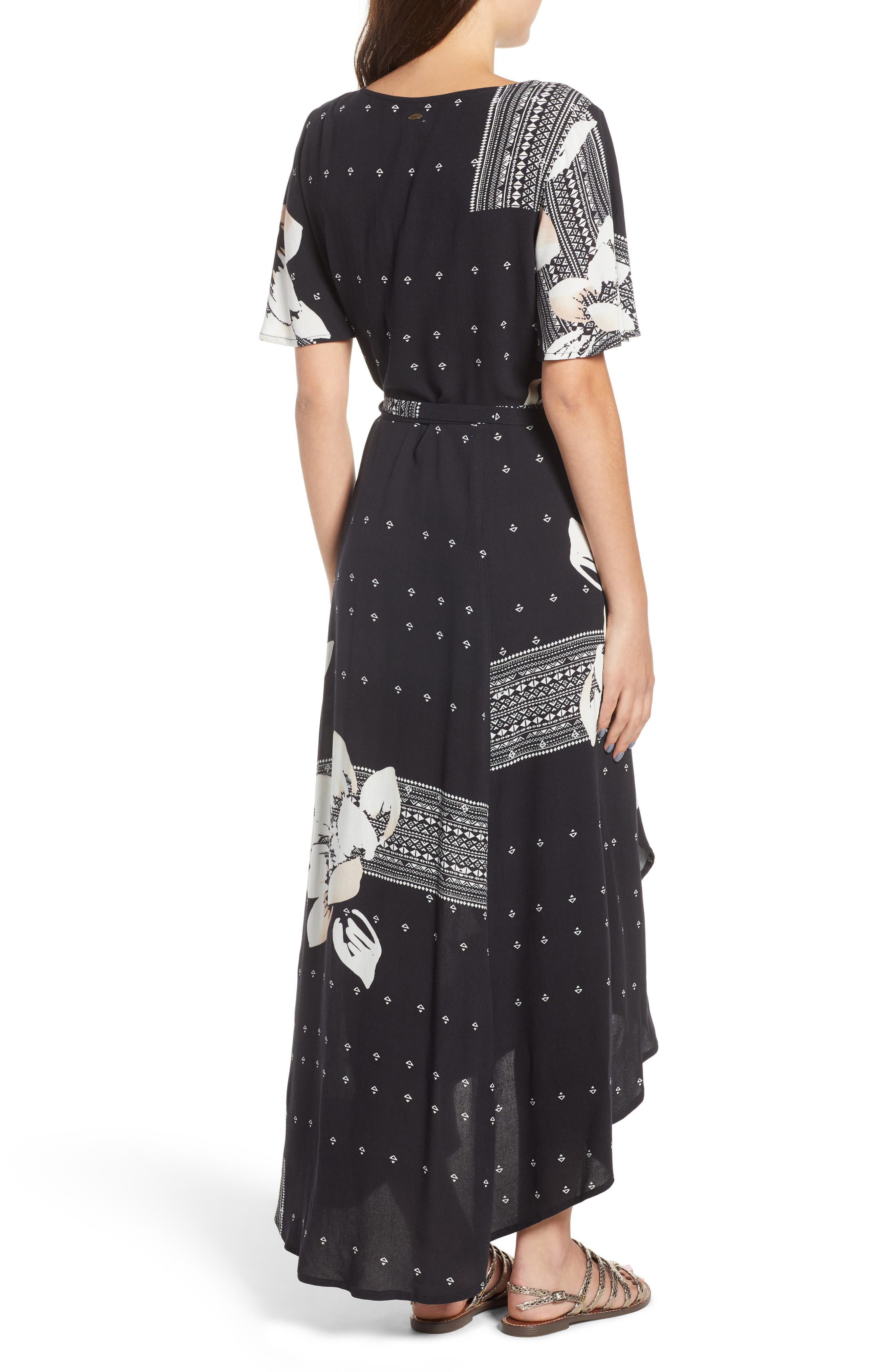 Alamante Print Wrap Dress,                             Alternate thumbnail 2, color,                             001