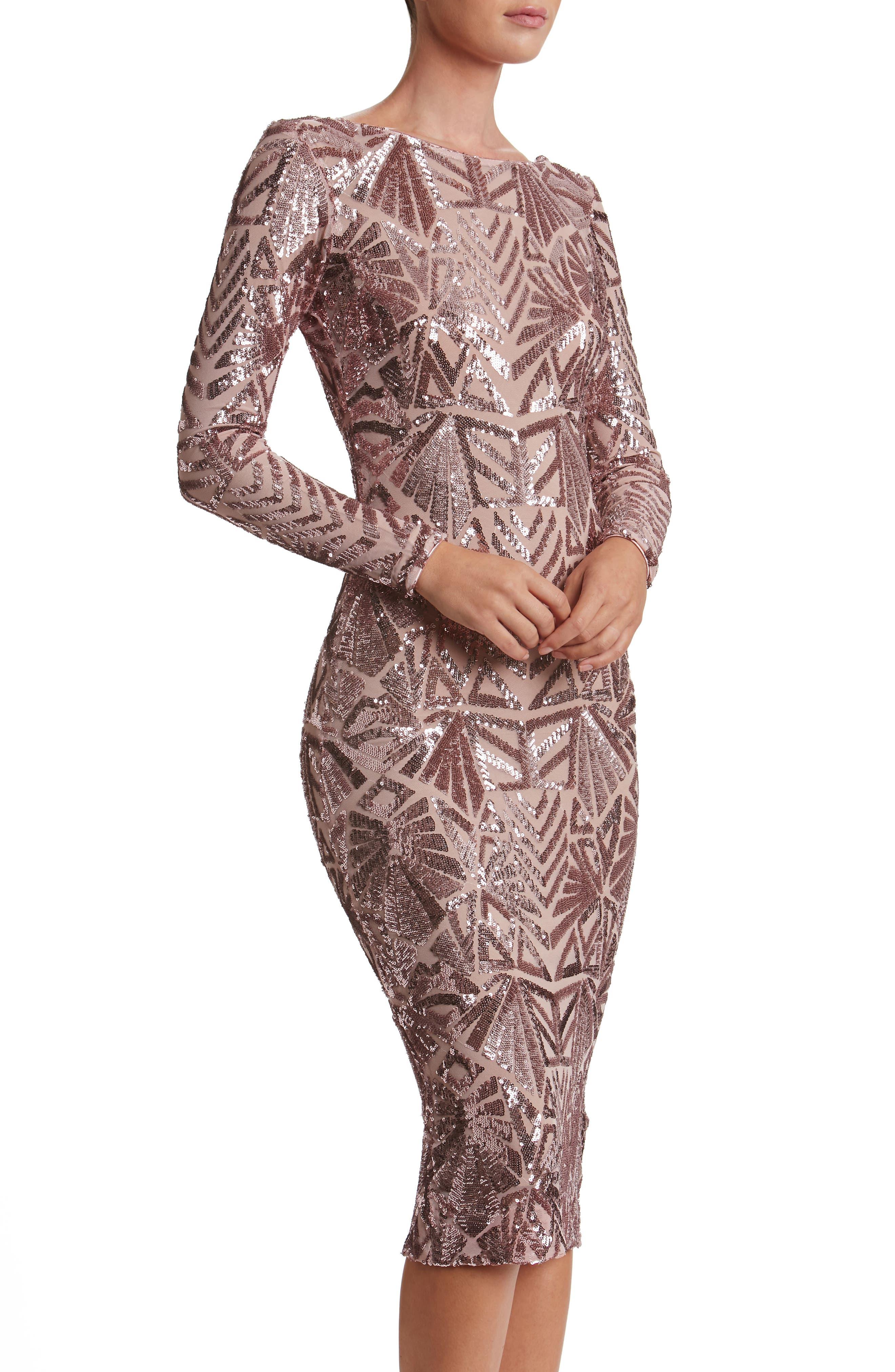 Emery Midi Dress,                             Alternate thumbnail 18, color,