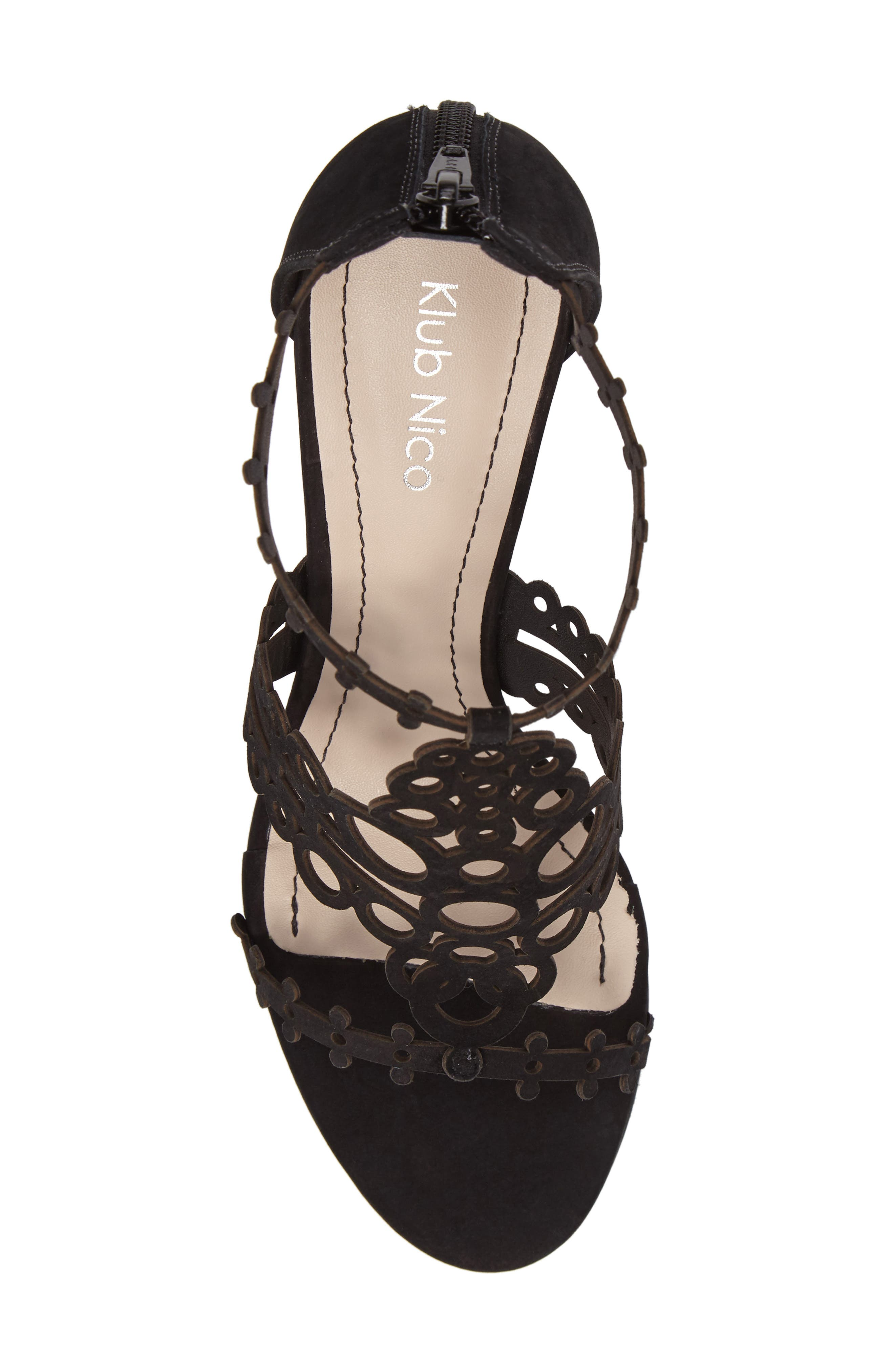'Antonia' Laser Cut T-Strap Sandal,                             Alternate thumbnail 21, color,