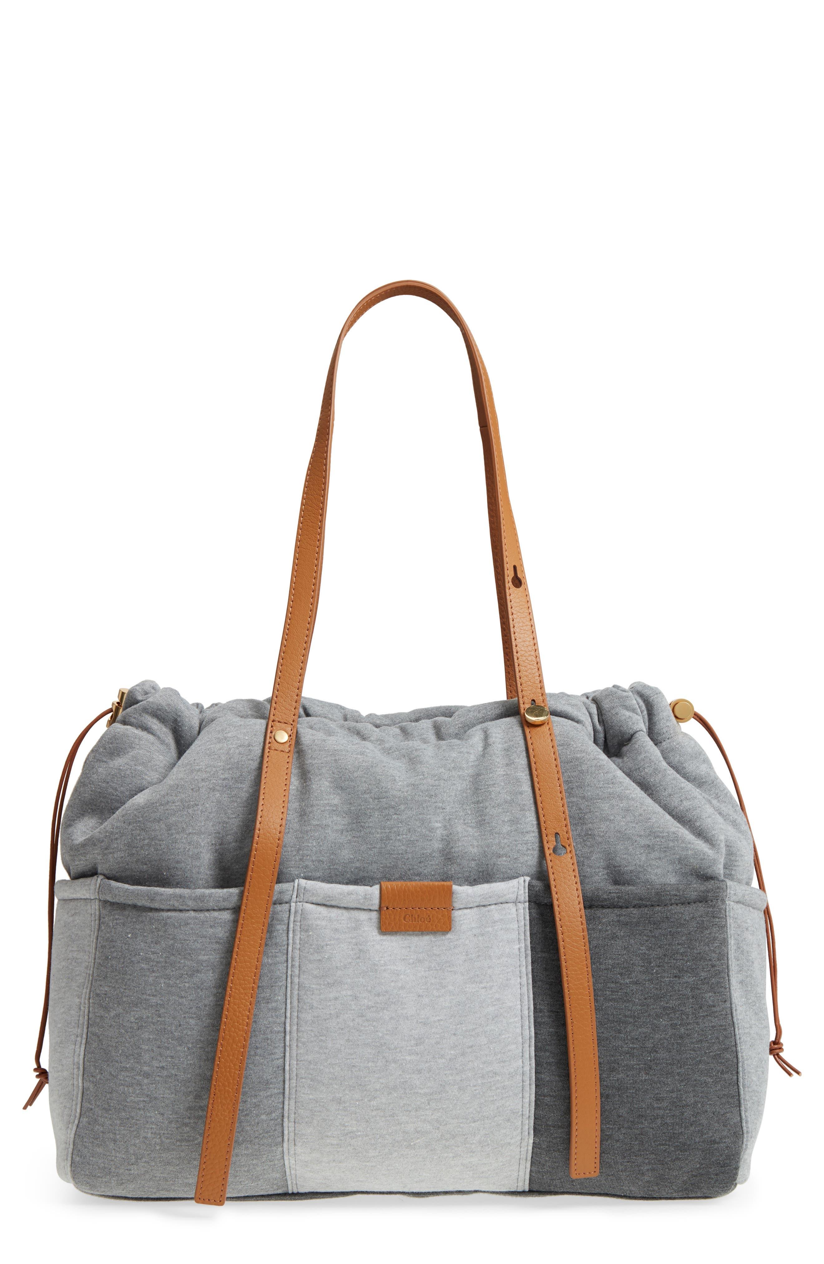 Jersey Diaper Bag,                         Main,                         color, GREY