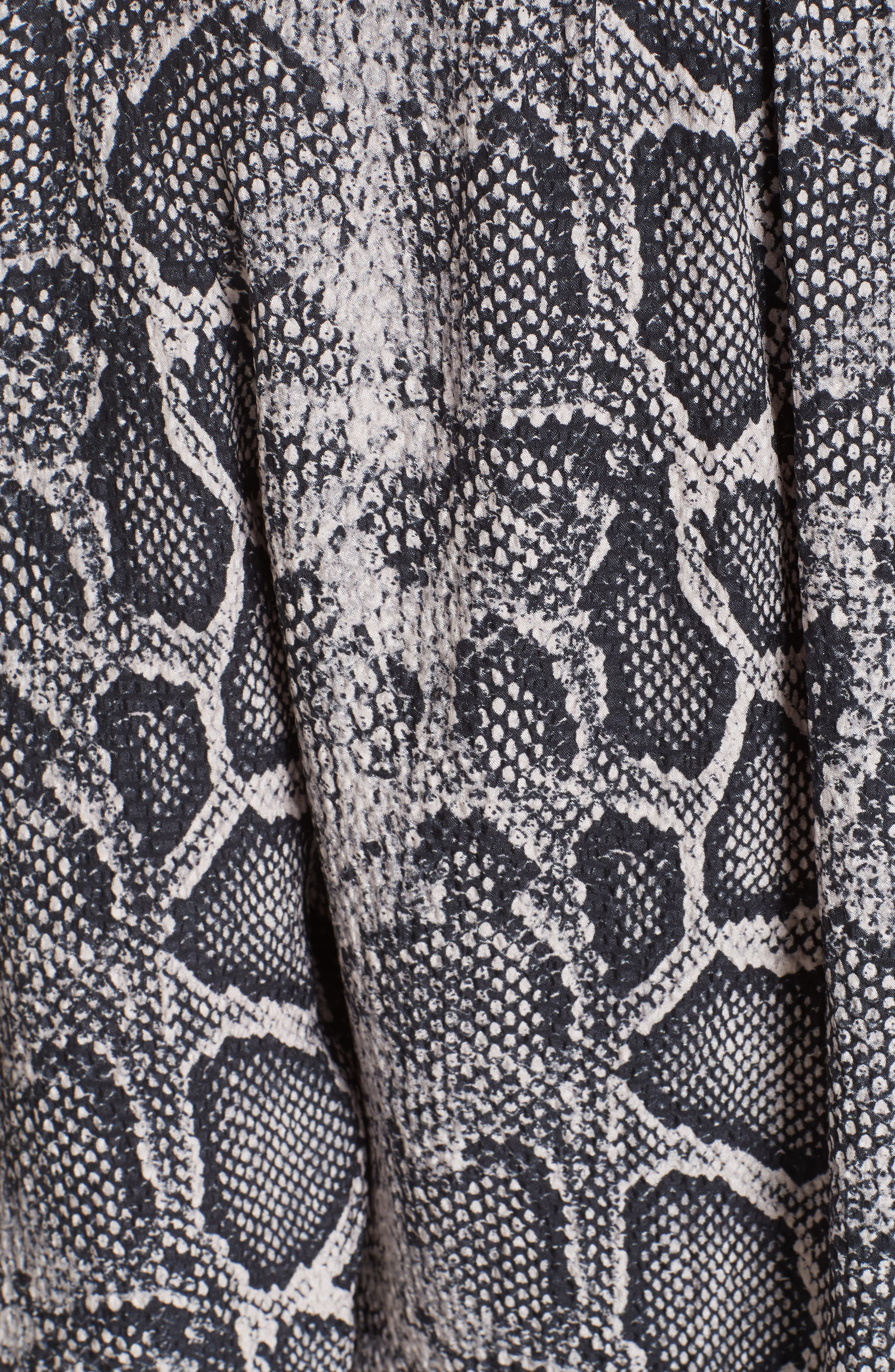 Snake Print Top,                             Alternate thumbnail 5, color,                             WASHED BLACK COMBO