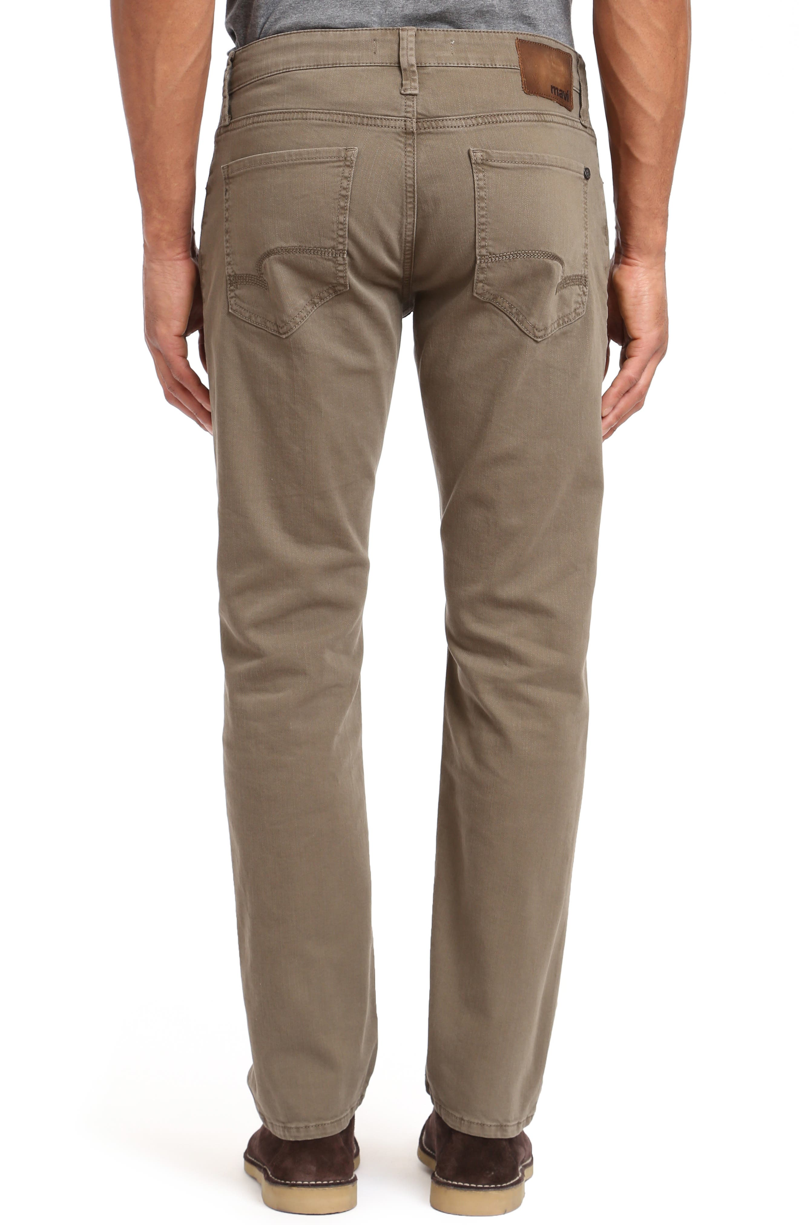 Zach Straight Leg Jeans,                             Alternate thumbnail 2, color,                             KHAKI WASHED COMFORT