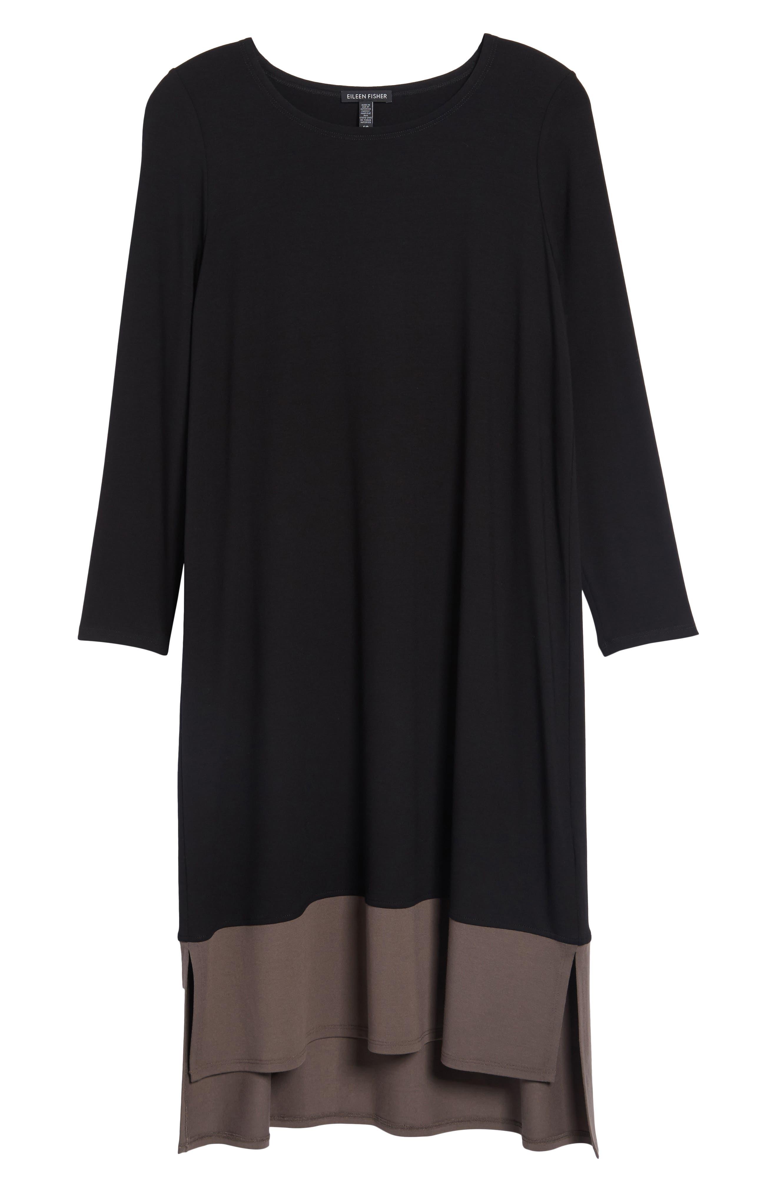 Colorblock Jersey Shift Dress,                             Alternate thumbnail 6, color,