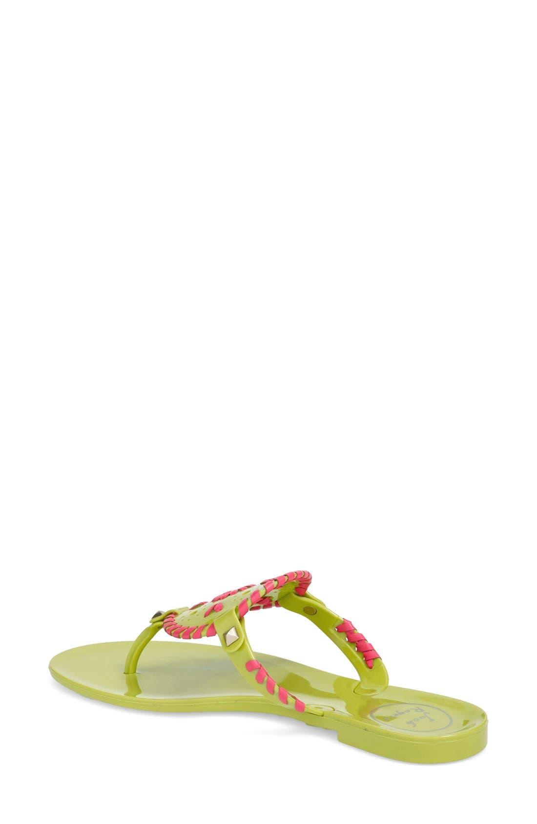 'Georgica' Jelly Flip Flop,                             Alternate thumbnail 70, color,