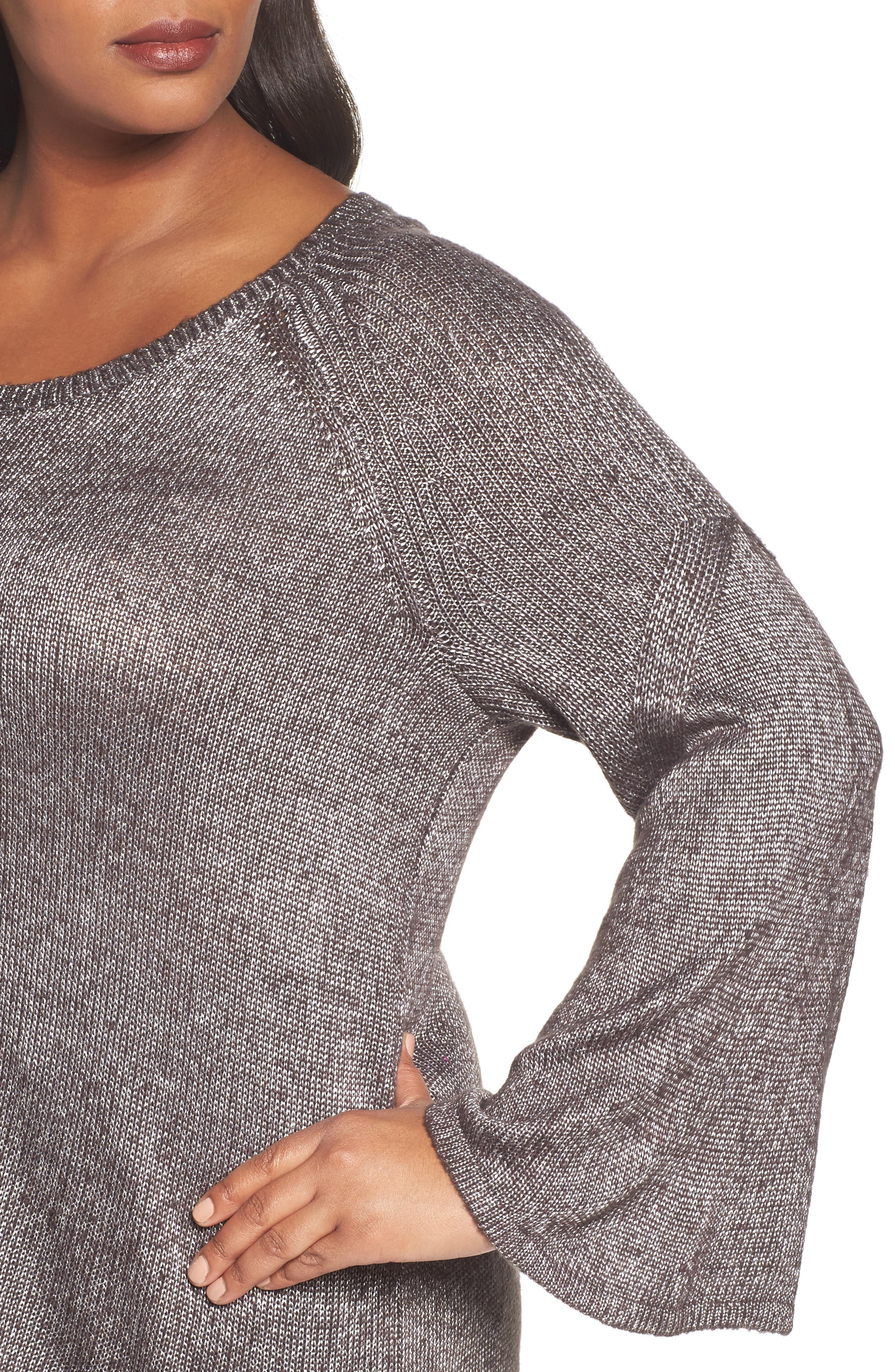 Bell Sleeve Sweater,                             Alternate thumbnail 7, color,