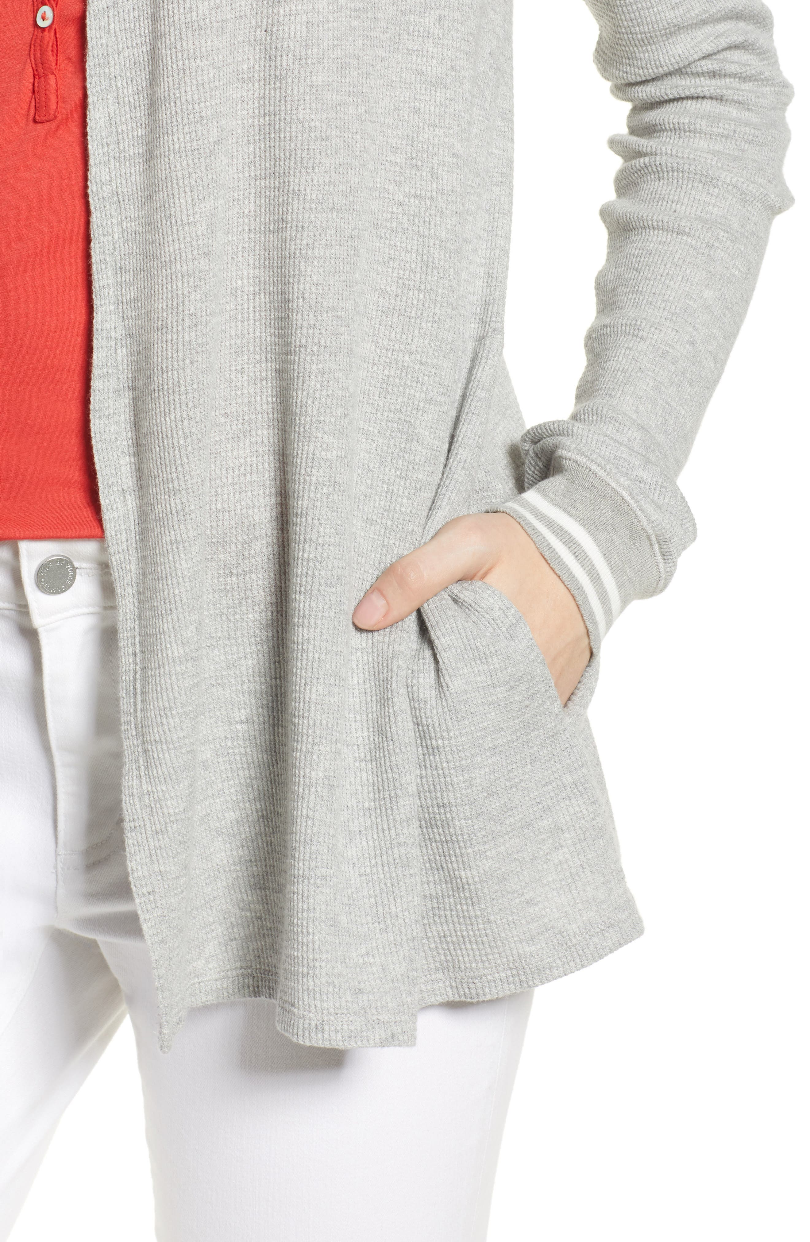 Baby Thermal Open Knit Cardigan,                             Alternate thumbnail 4, color,                             050