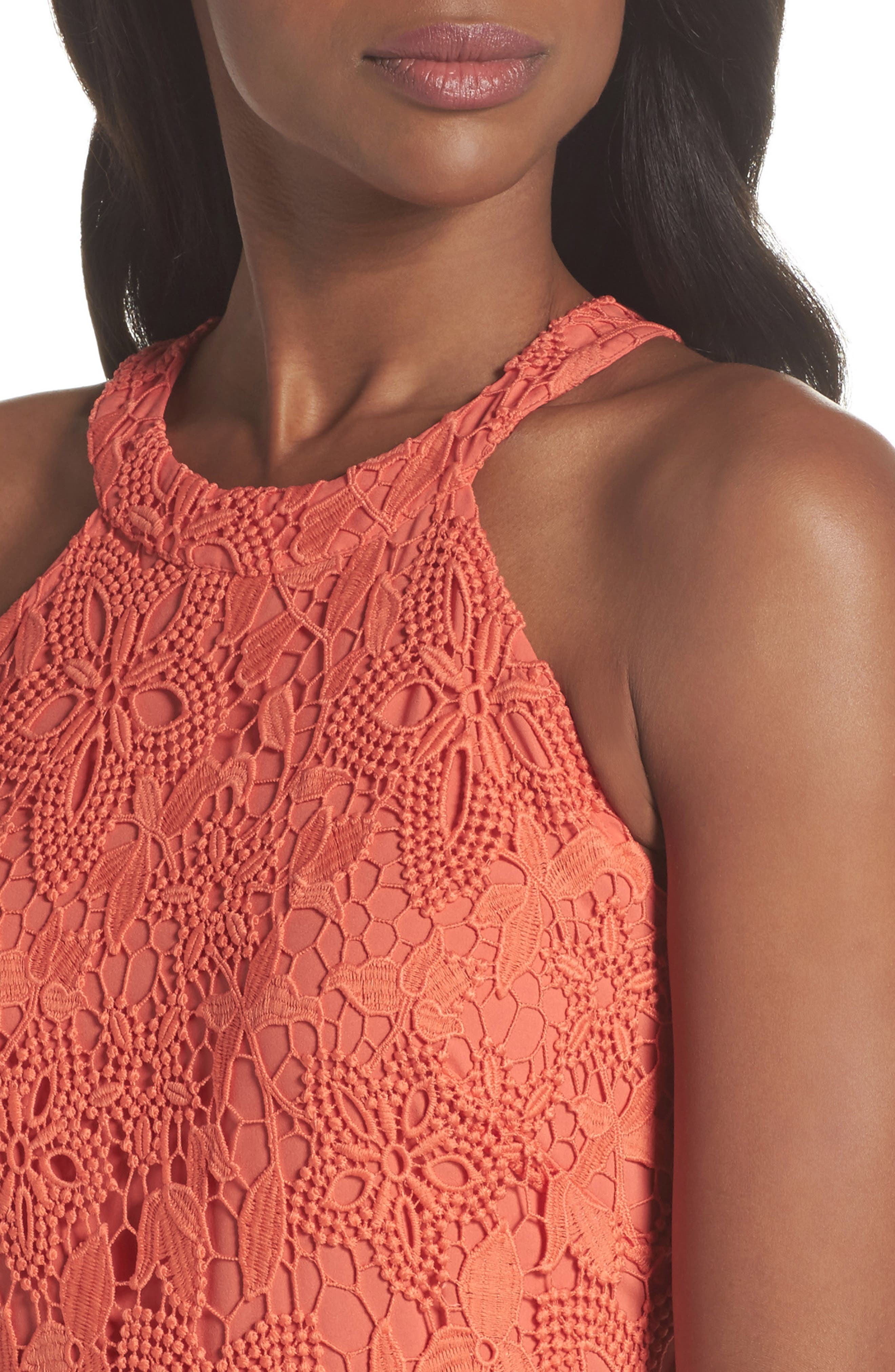 Isla Lace Halter Dress,                             Alternate thumbnail 8, color,