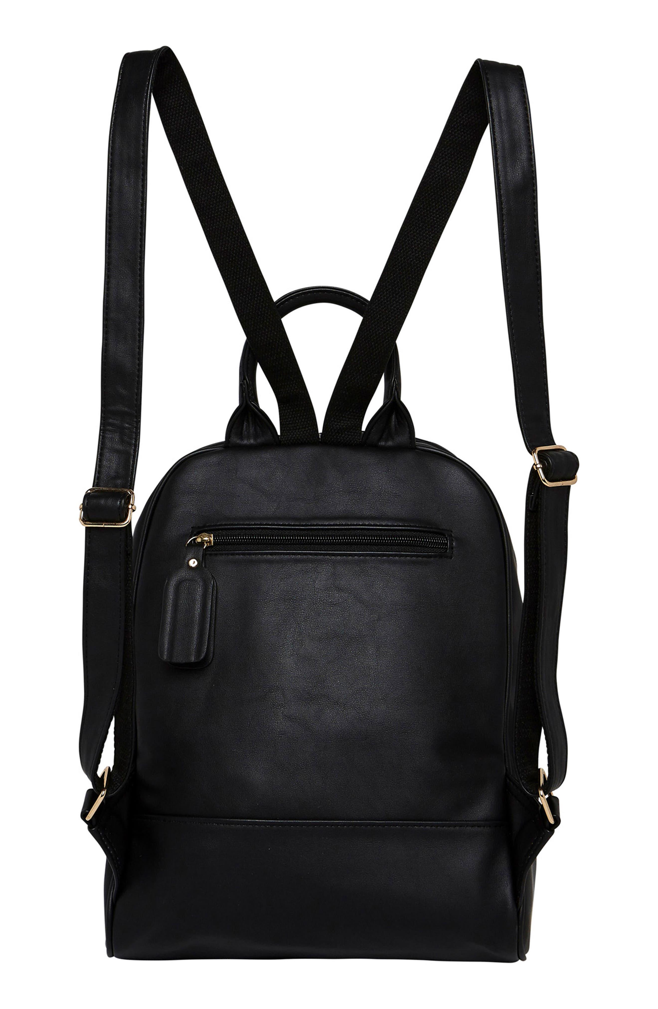 Evolution Vegan Leather Backpack,                             Alternate thumbnail 2, color,                             BLACK