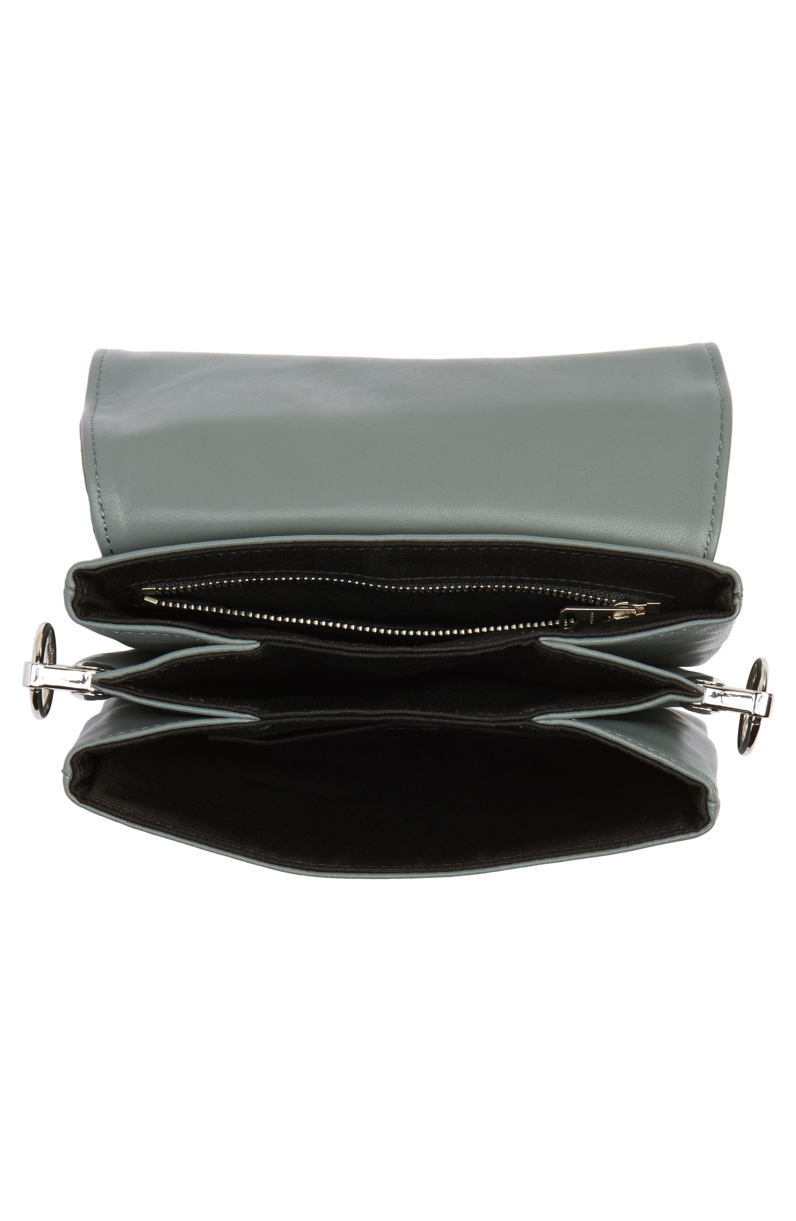 Zep Lambskin Leather Shoulder Bag,                             Alternate thumbnail 8, color,