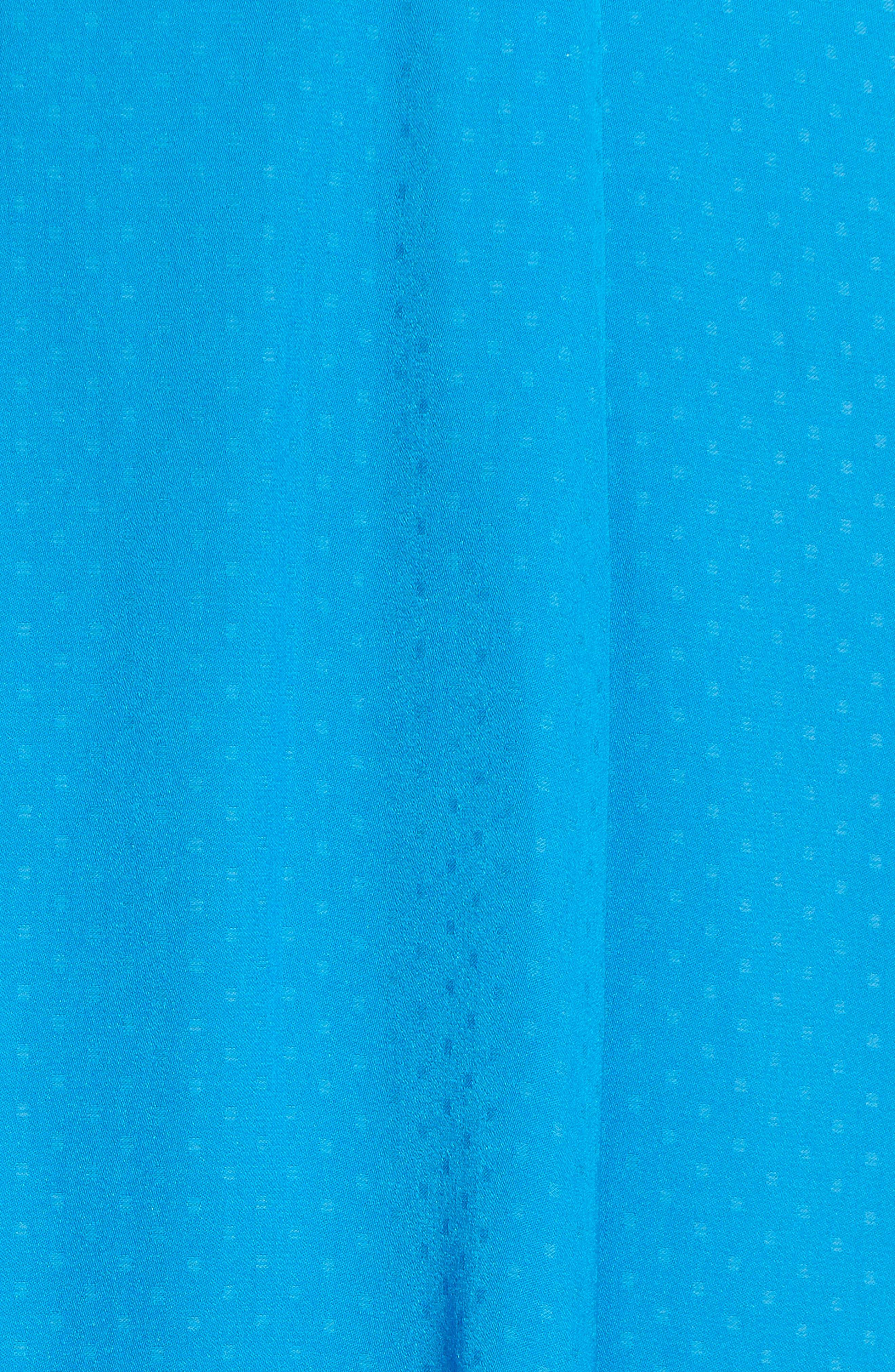 Textured Fit & Flare Midi Dress,                             Alternate thumbnail 9, color,