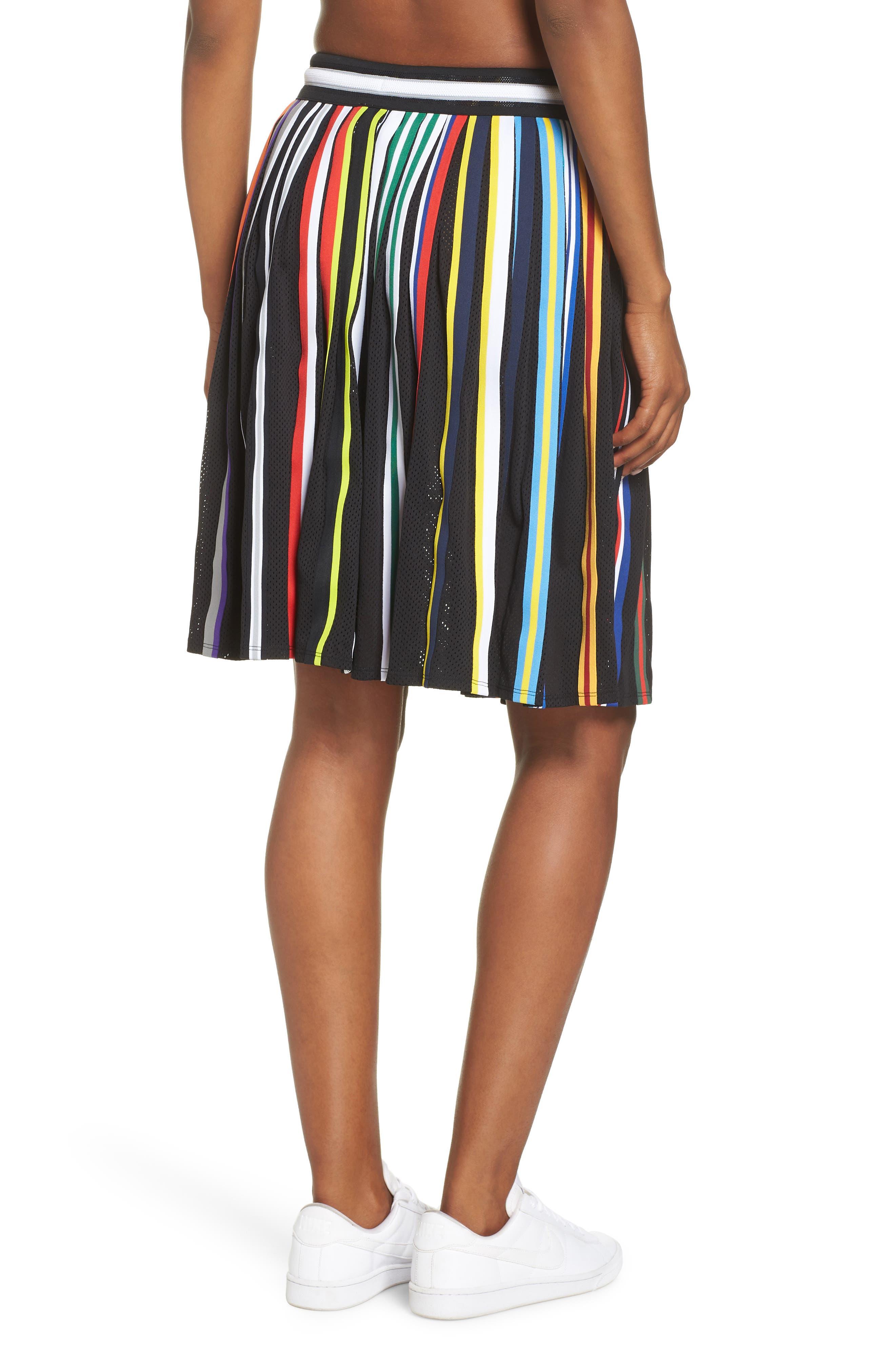 NikeLab Basketball Stripe Skirt,                             Alternate thumbnail 2, color,                             BLACK