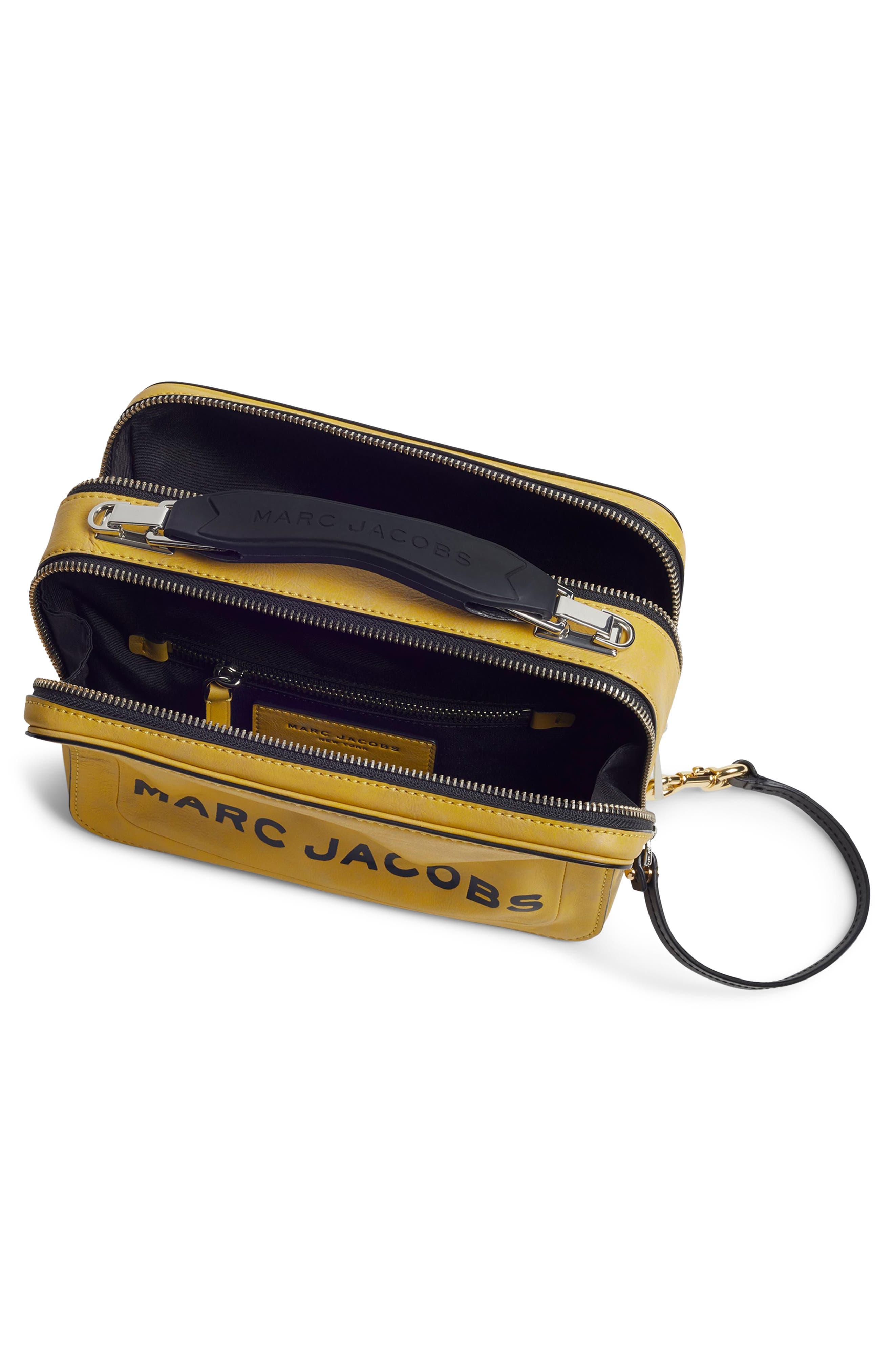 The Box Leather Handbag,                             Alternate thumbnail 4, color,                             YELLOW