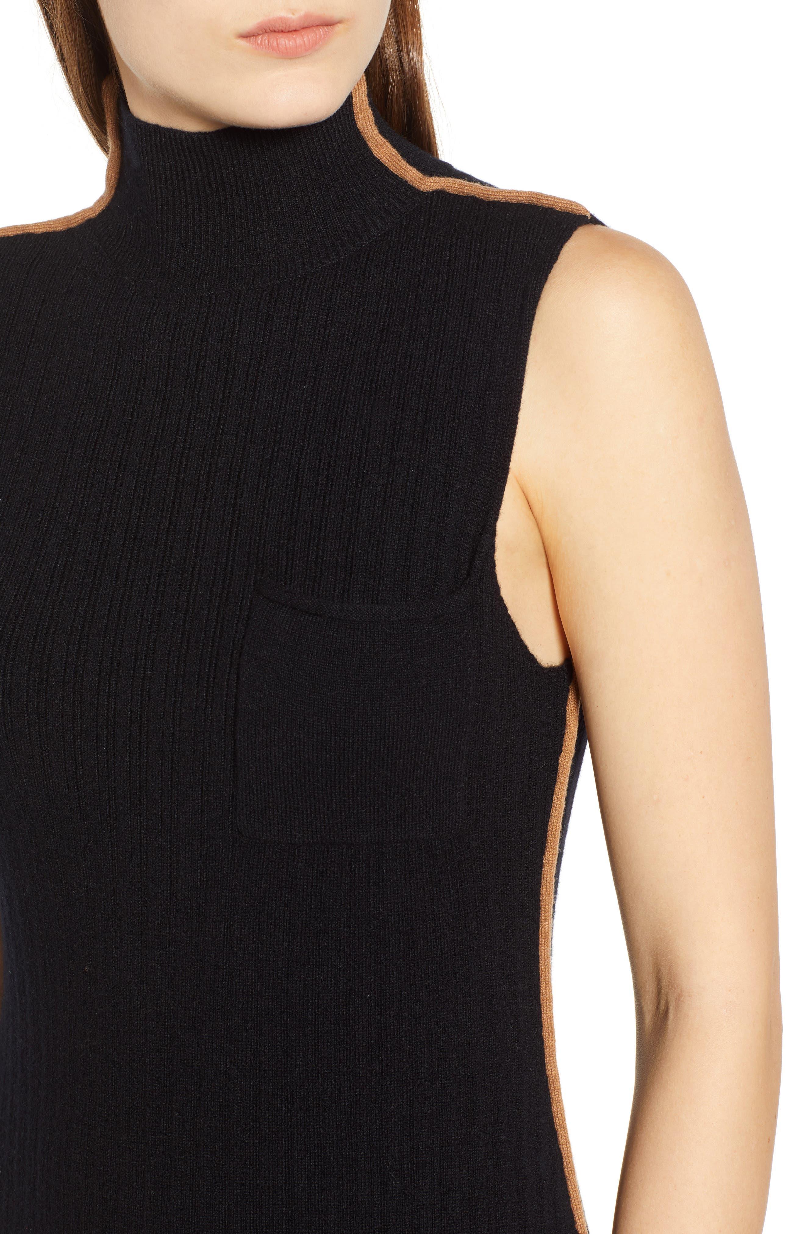 N:PHILANTHROPY,                             Henry Sweater Dress,                             Alternate thumbnail 5, color,                             BLACK CAT