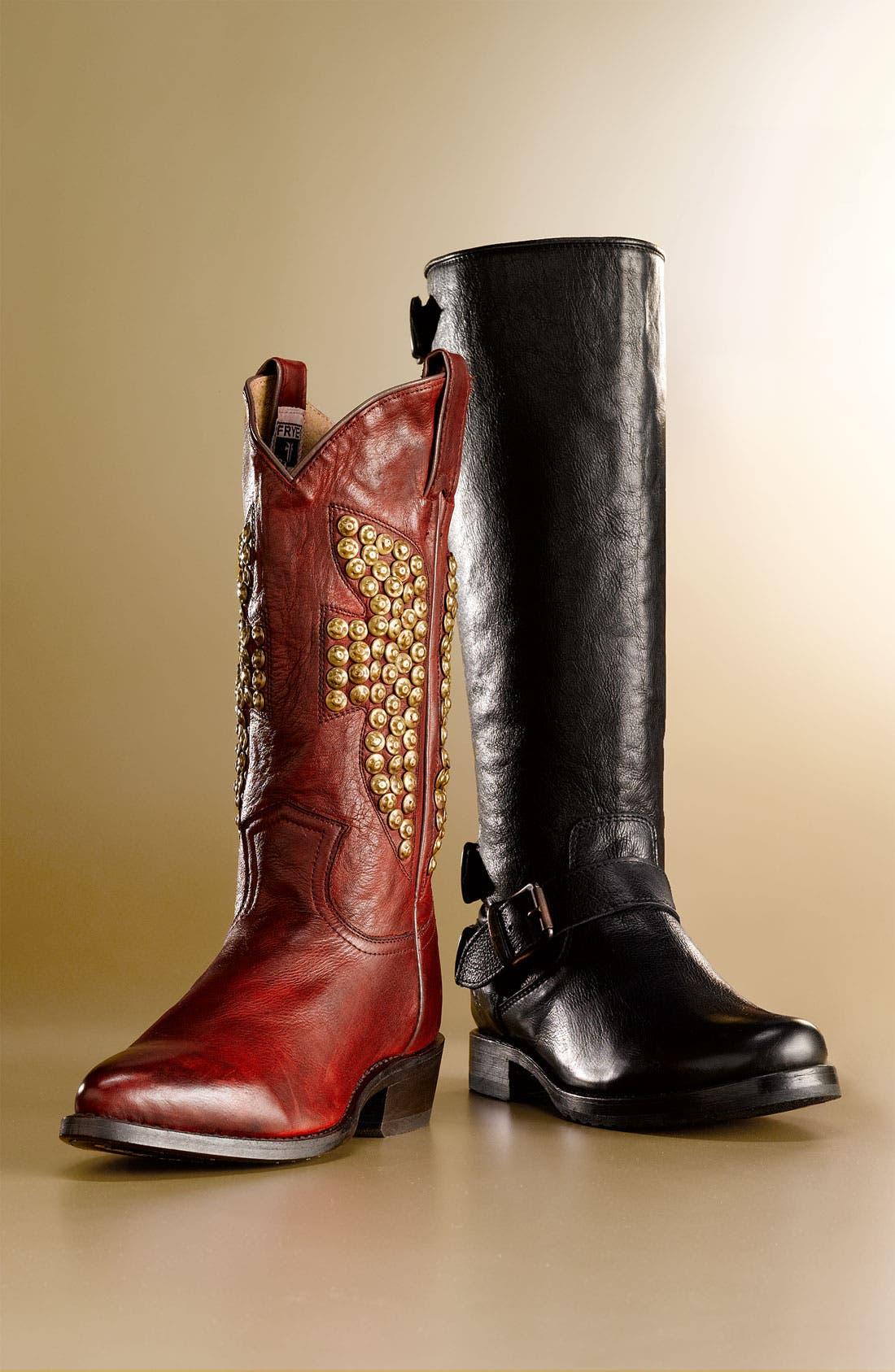 'Veronica Back Zip' Boot,                         Main,                         color, 002
