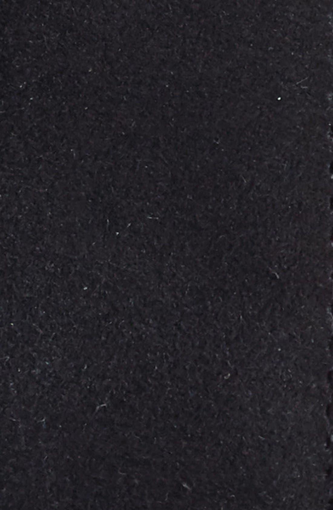 Suede Belt,                             Alternate thumbnail 3, color,                             BLACK