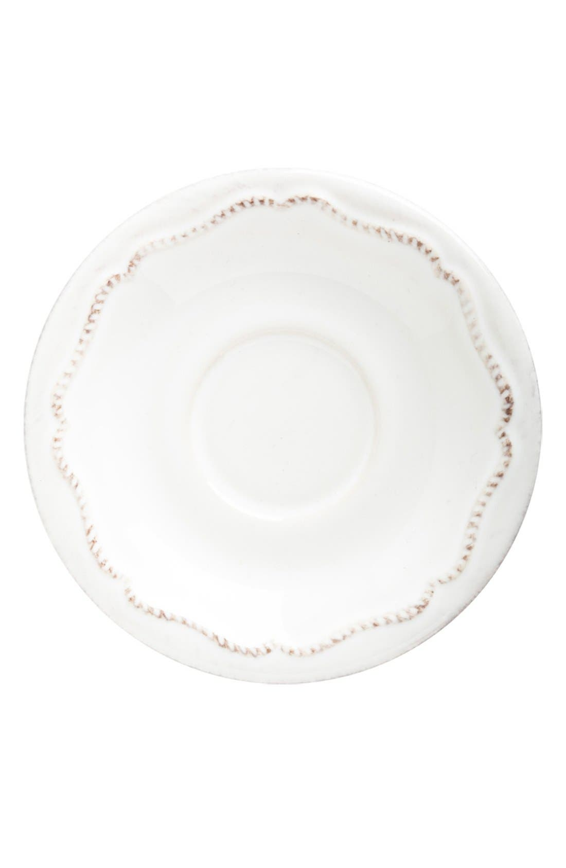 'Berry and Thread' Demitasse Saucer,                             Main thumbnail 1, color,                             WHITEWASH
