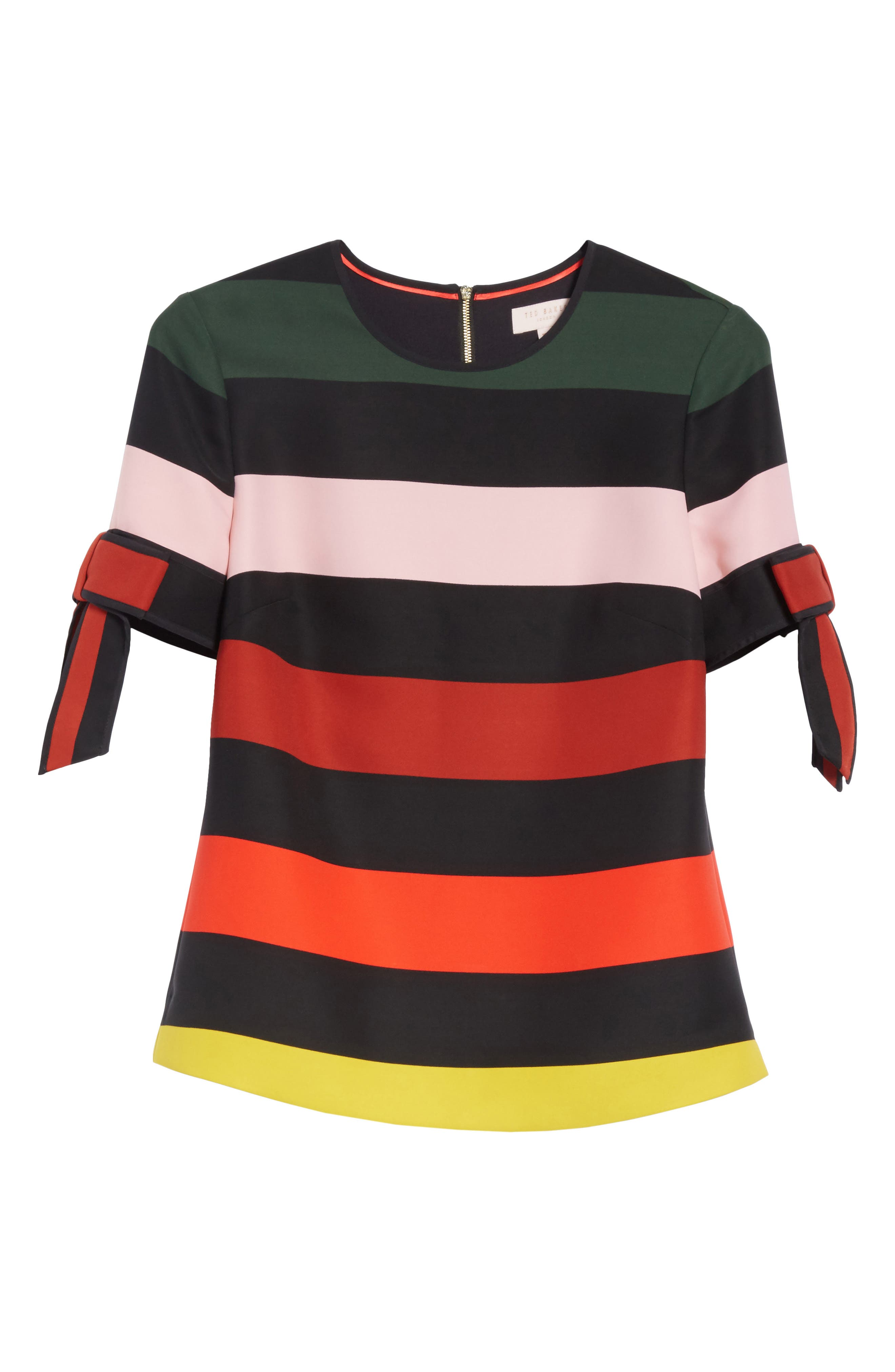 Cruise Stripe Bow Sleeve Top,                             Alternate thumbnail 6, color,                             001
