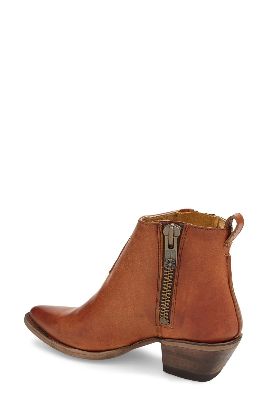 'Sacha' Washed Leather Ankle Boot,                             Alternate thumbnail 6, color,