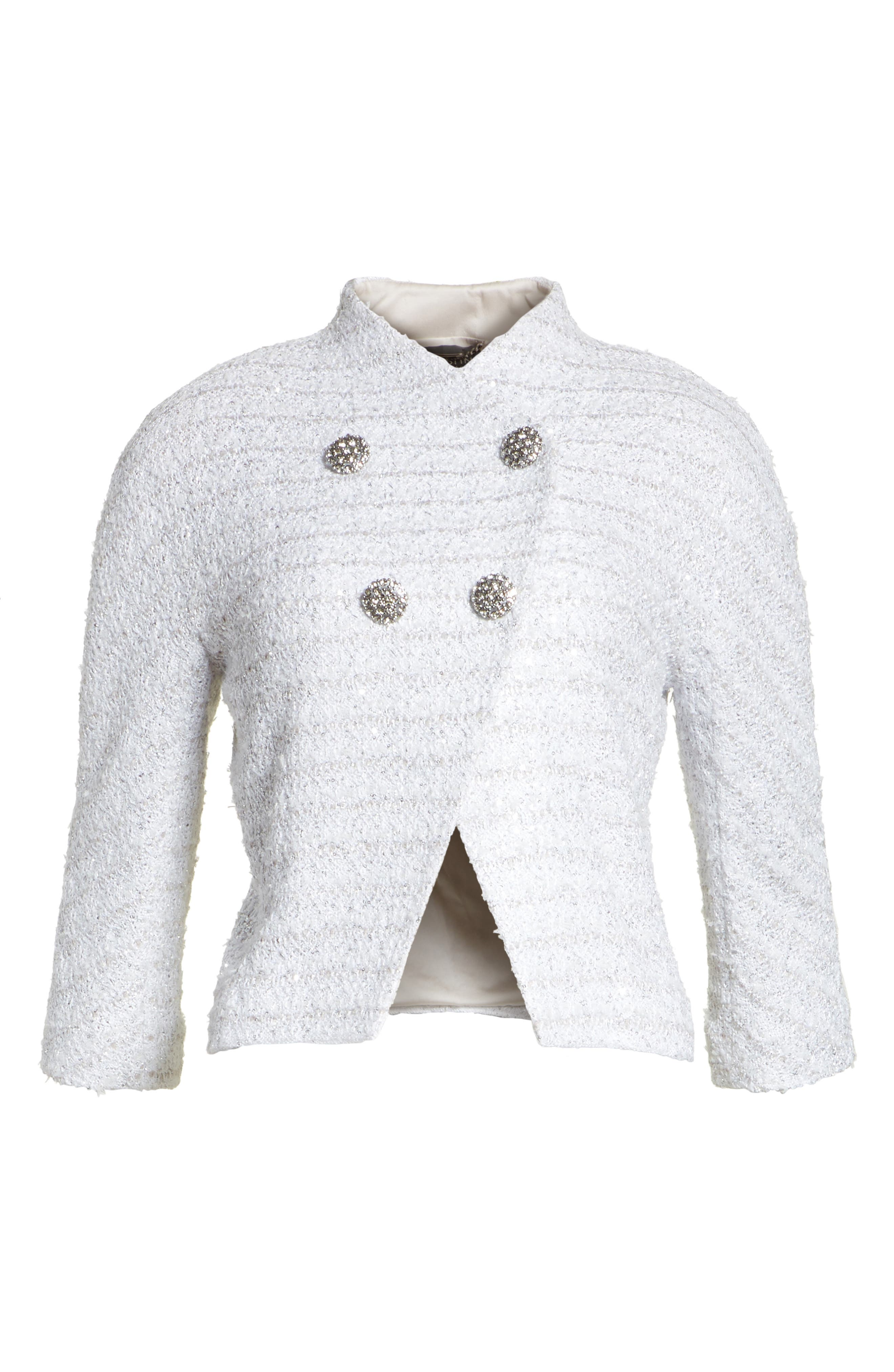 Frosted Metallic Tweed Jacket,                             Alternate thumbnail 5, color,