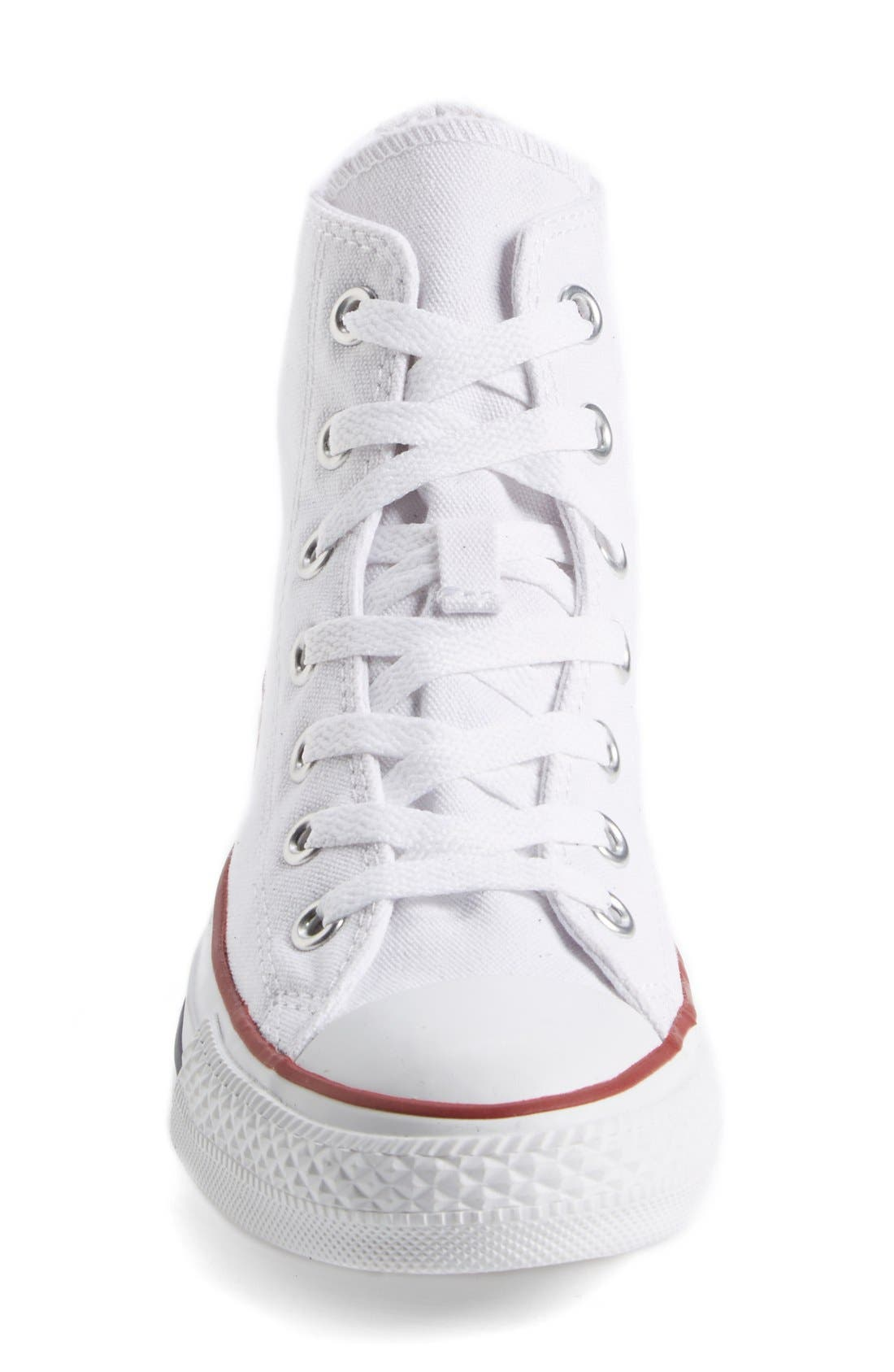 Chuck Taylor<sup>®</sup> High Top Sneaker,                             Alternate thumbnail 9, color,                             OPTIC WHITE