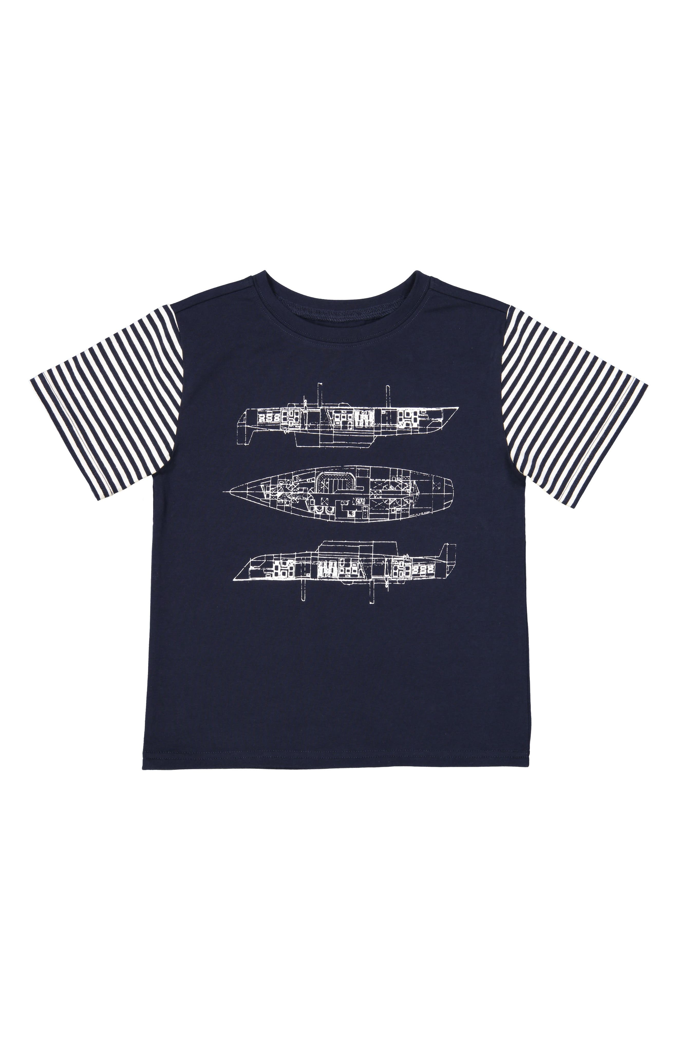 Blueprint T-Shirt,                         Main,                         color, NAVY