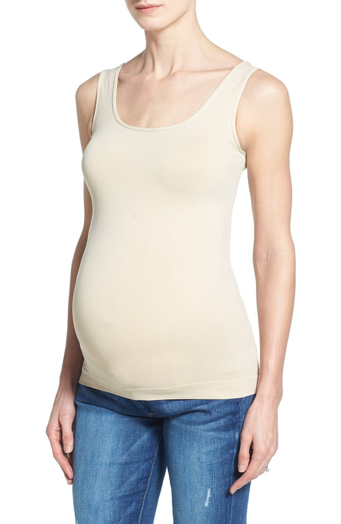 Scoop Neck Maternity Tank,                             Main thumbnail 4, color,