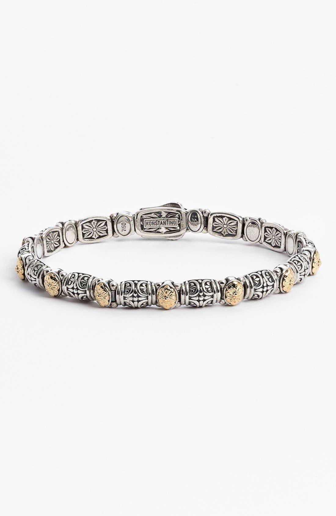 'Hermione' Line Bracelet,                             Main thumbnail 1, color,                             SILVER/ GOLD