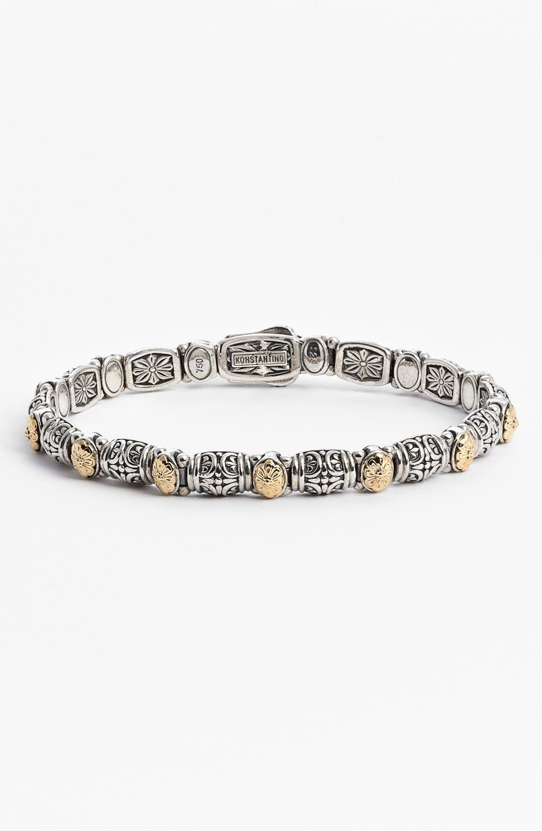 'Hermione' Line Bracelet,                         Main,                         color, SILVER/ GOLD
