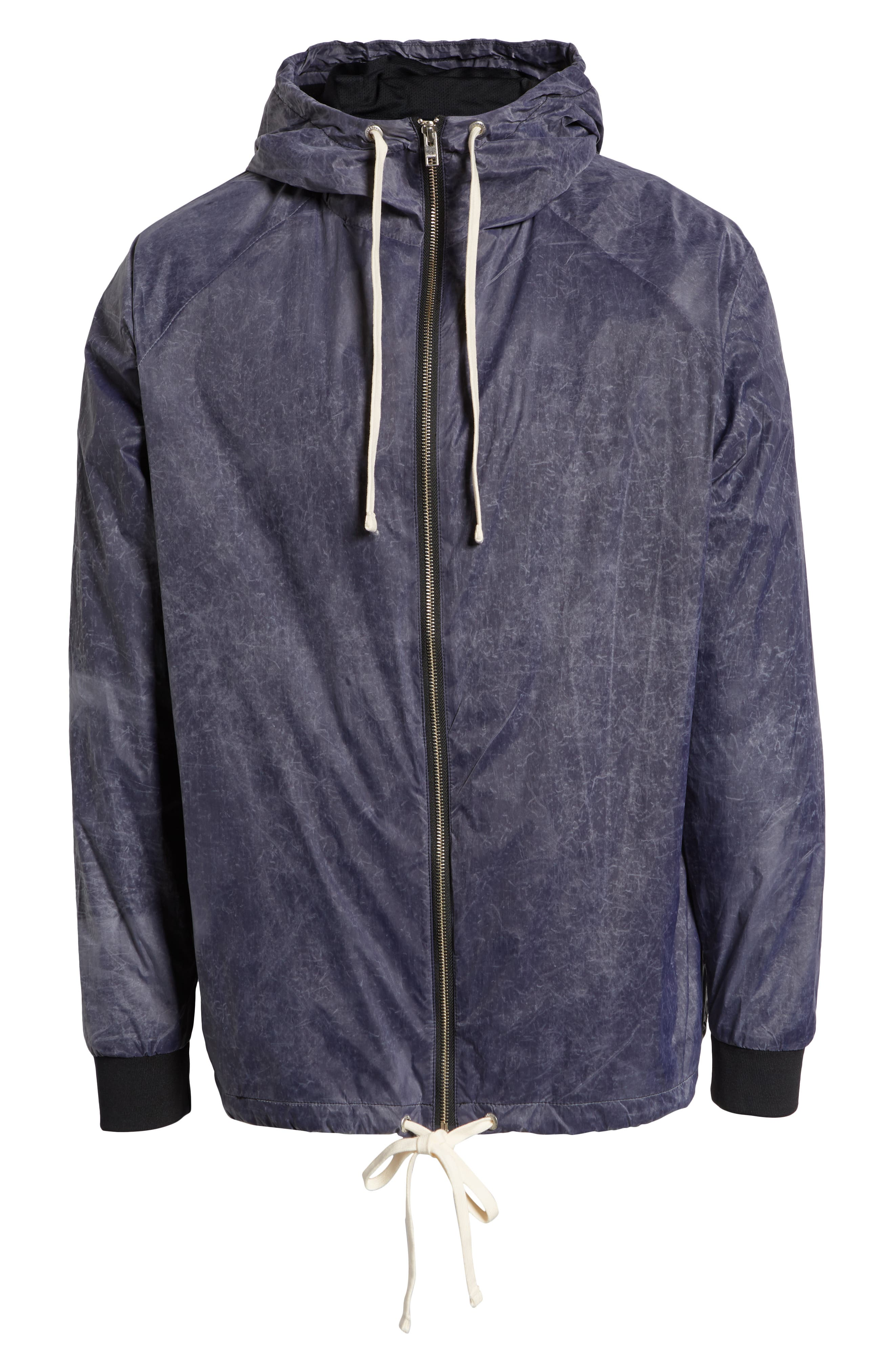 Storm Spray Hooded Jacket,                             Alternate thumbnail 4, color,                             SCRATCHED GREY