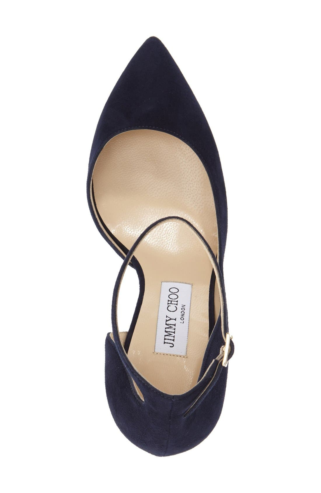 'Lucy' Half d'Orsay Pointy Toe Pump,                             Alternate thumbnail 5, color,