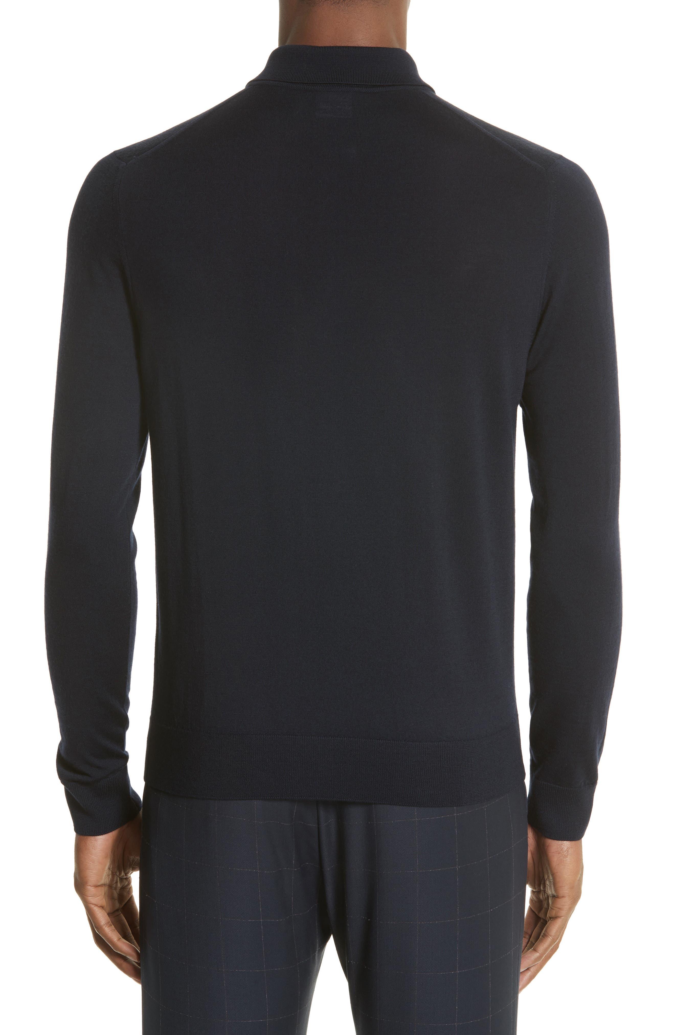 Merino Wool Long Sleeve Polo,                             Alternate thumbnail 2, color,                             410