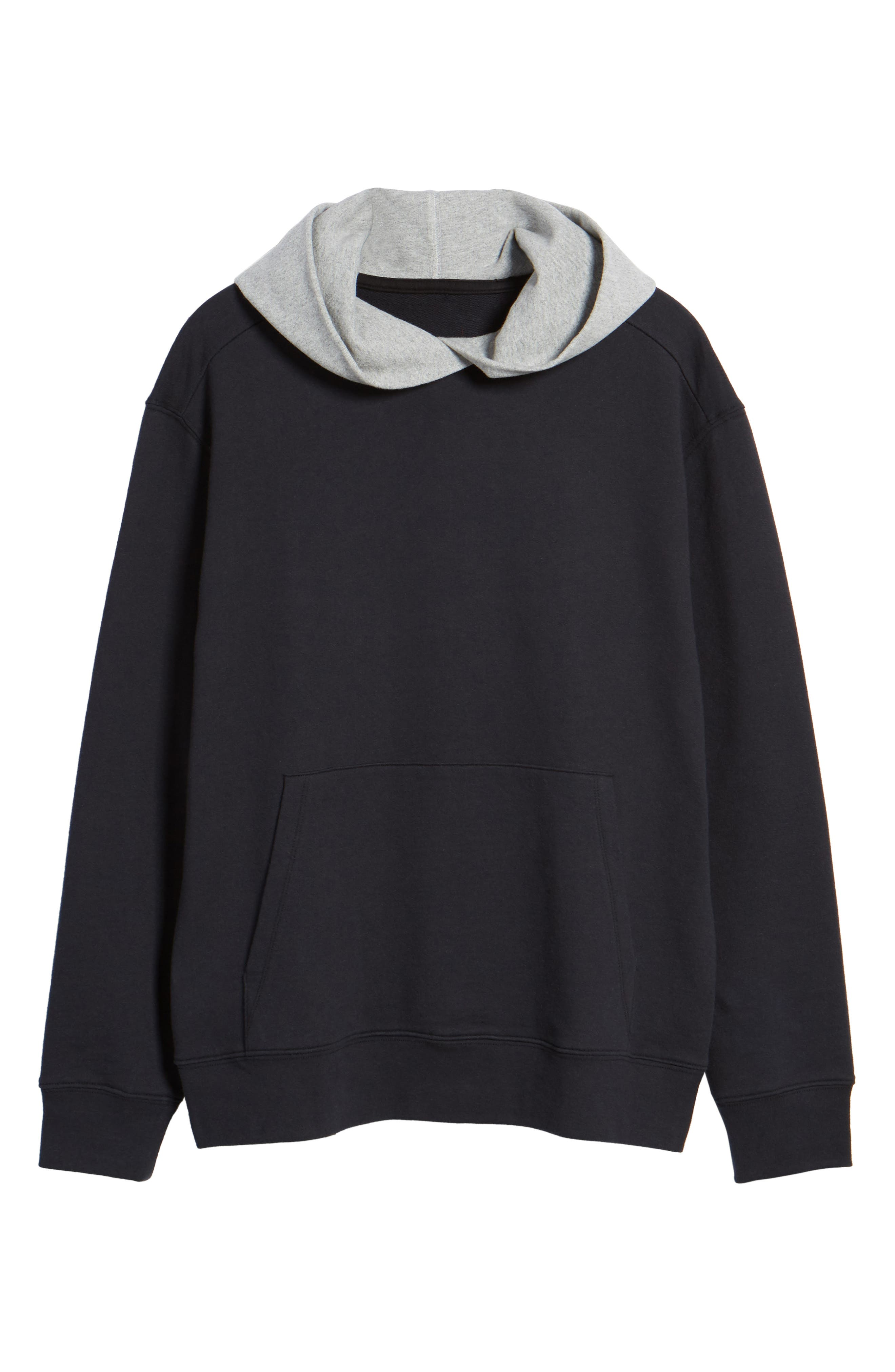 Colorblock Hoodie Sweatshirt,                             Alternate thumbnail 6, color,                             001