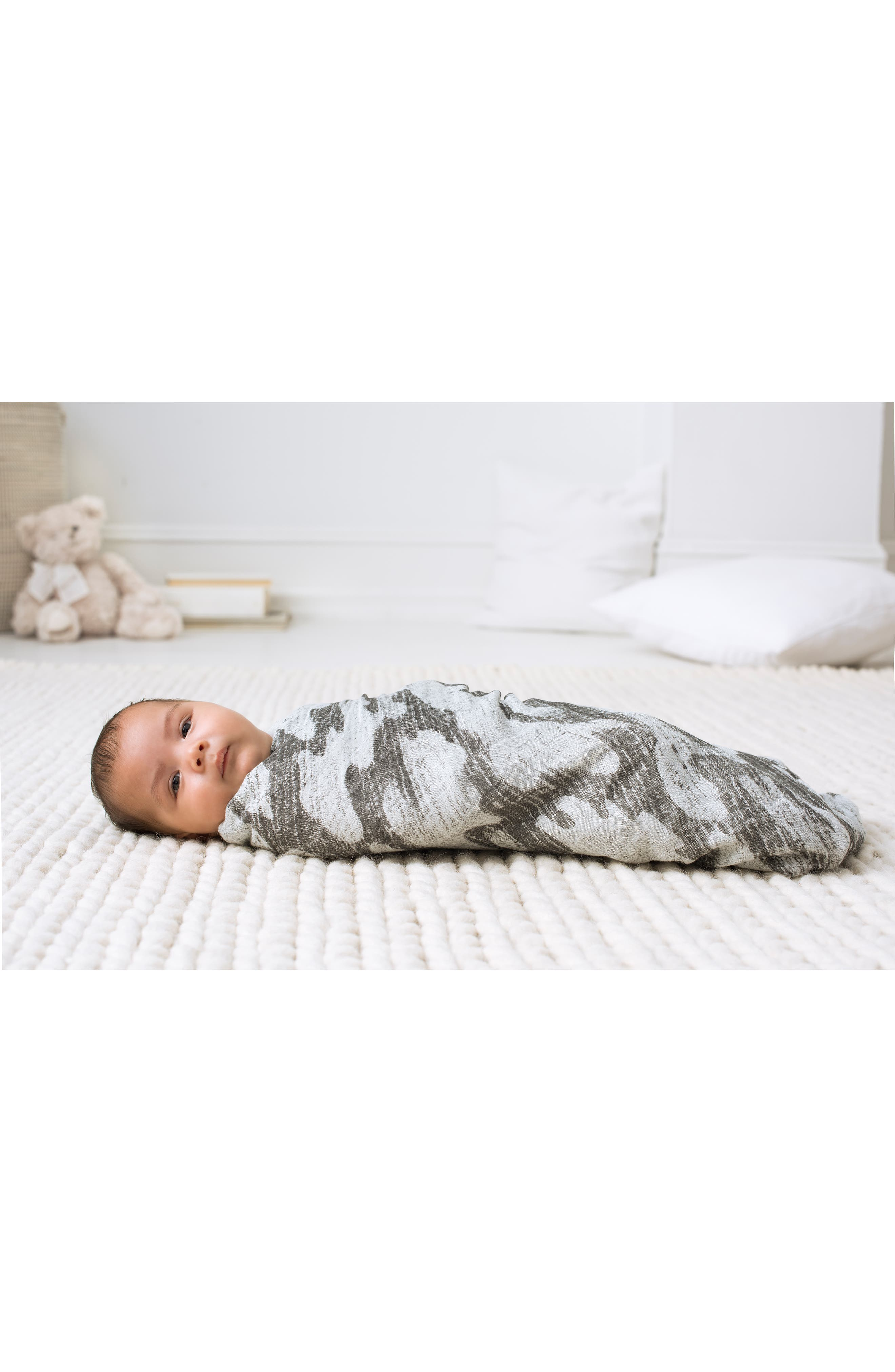 3-Pack Silky Soft Swaddling Cloths,                             Alternate thumbnail 3, color,                             FORAGERS