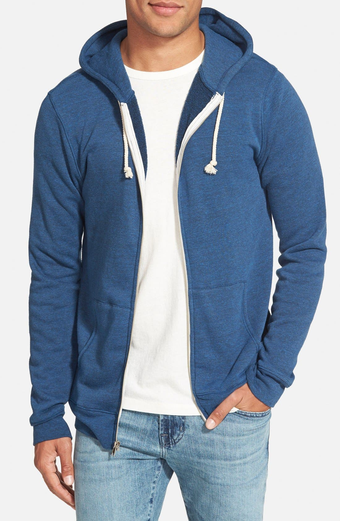 Threads for Thought Trim Fit Heathered Hoodie,                             Main thumbnail 10, color,