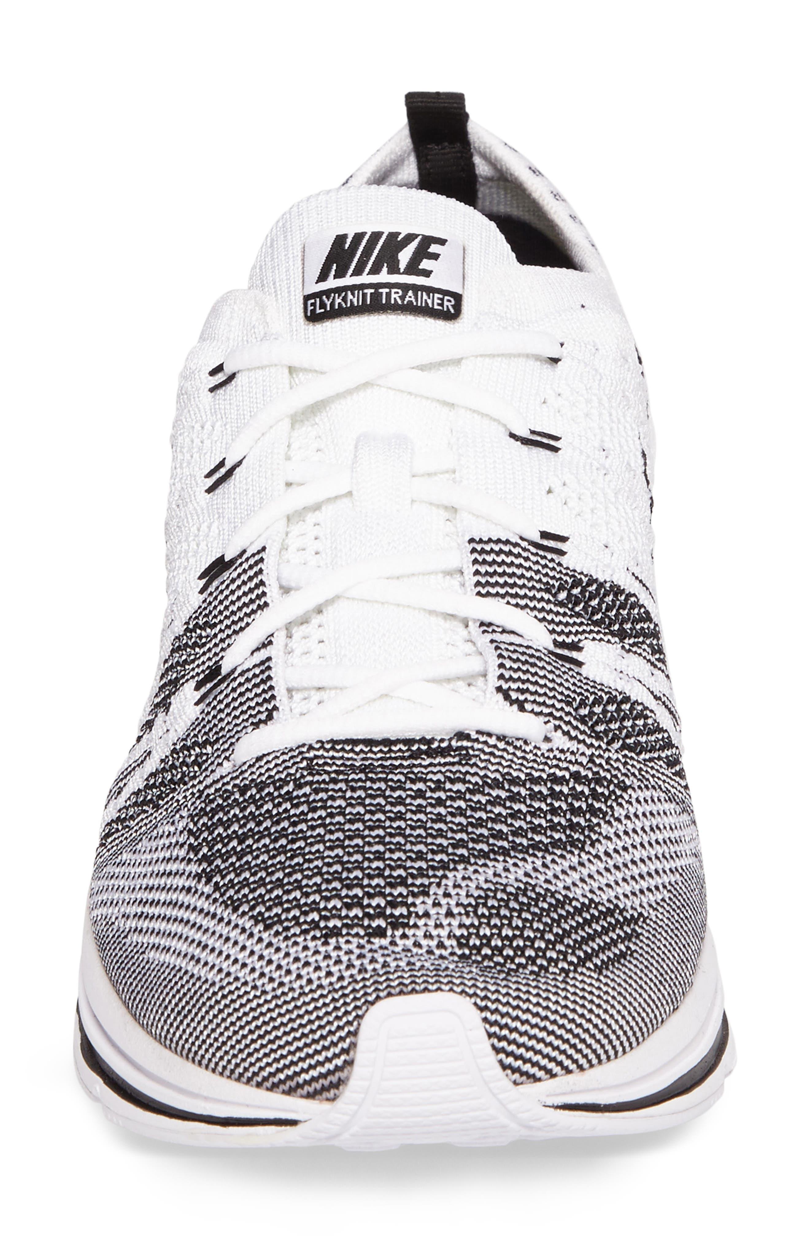 NikeLab Flyknit Trainer Sneaker,                             Alternate thumbnail 4, color,                             100