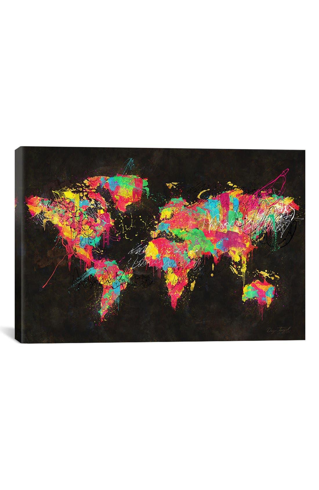 'Continents' Giclée Print Canvas Art,                             Main thumbnail 1, color,                             001