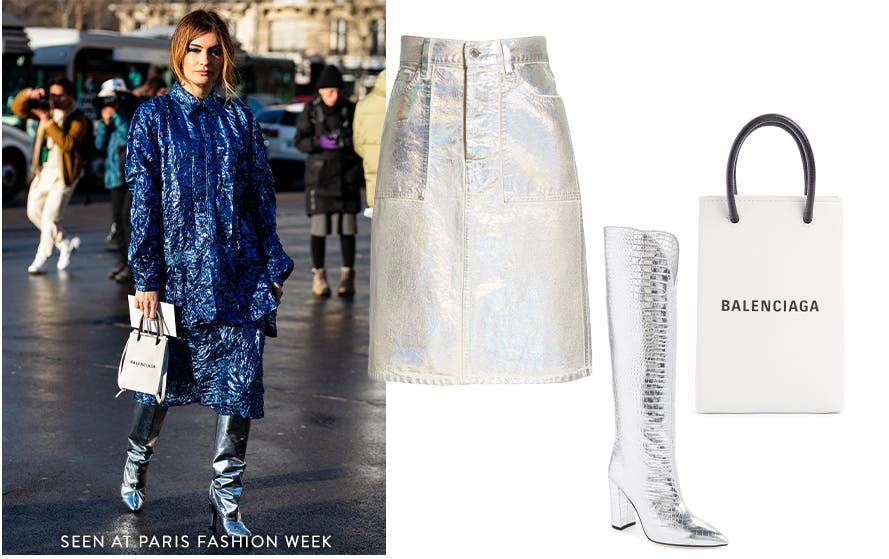 Spotted at FW20 Paris Fashion Week: heavy metal.
