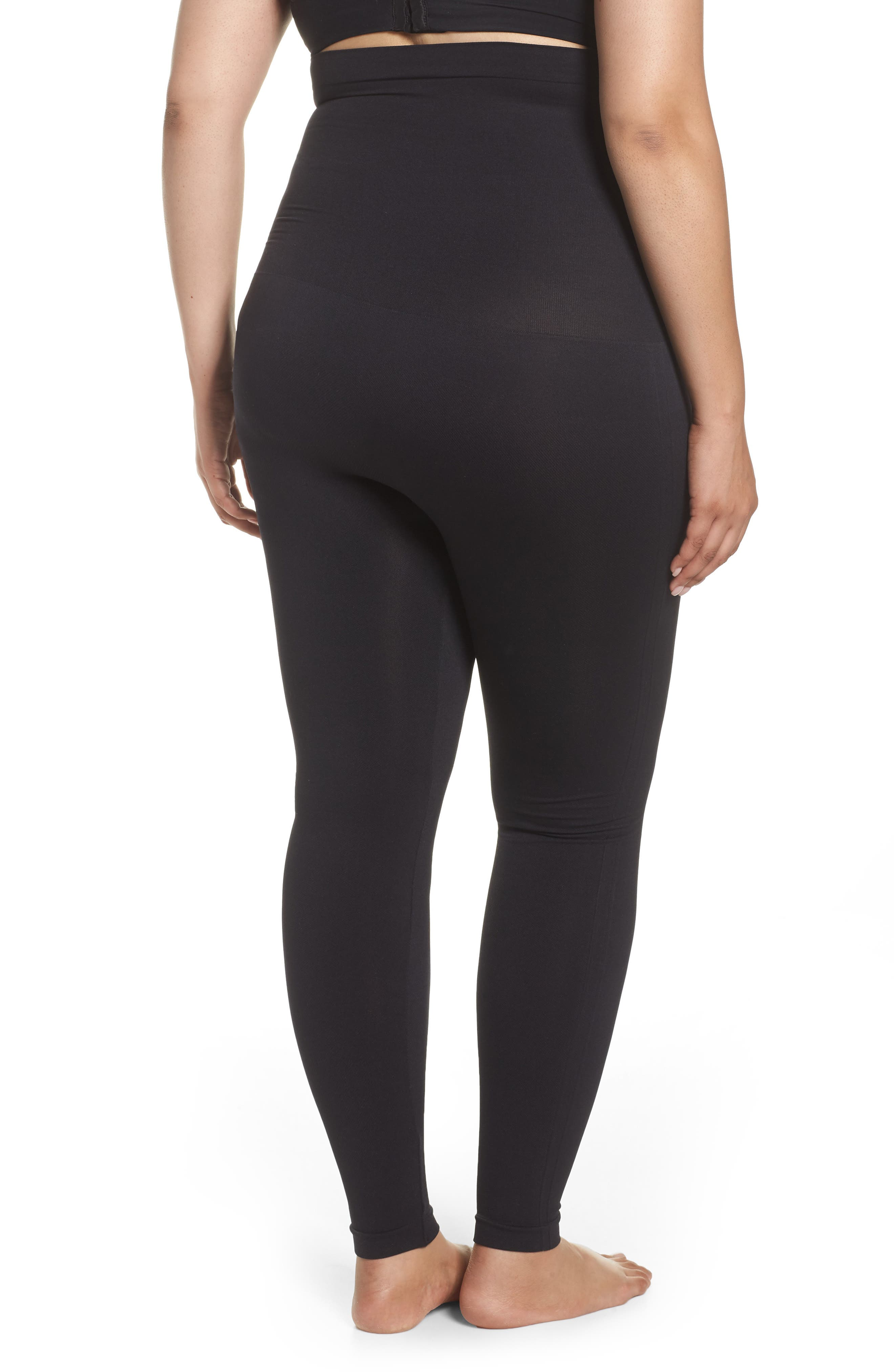 Look At Me Now Seamless Leggings,                             Alternate thumbnail 2, color,                             VERY BLACK
