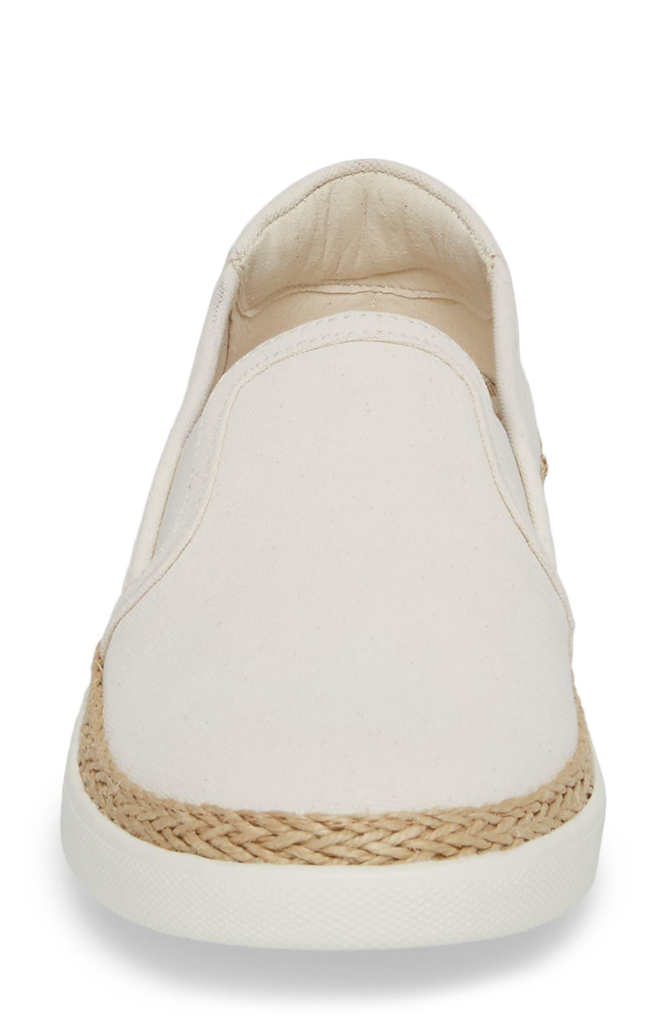 Rae Slip-On Sneaker,                             Alternate thumbnail 4, color,                             IVORY CANVAS