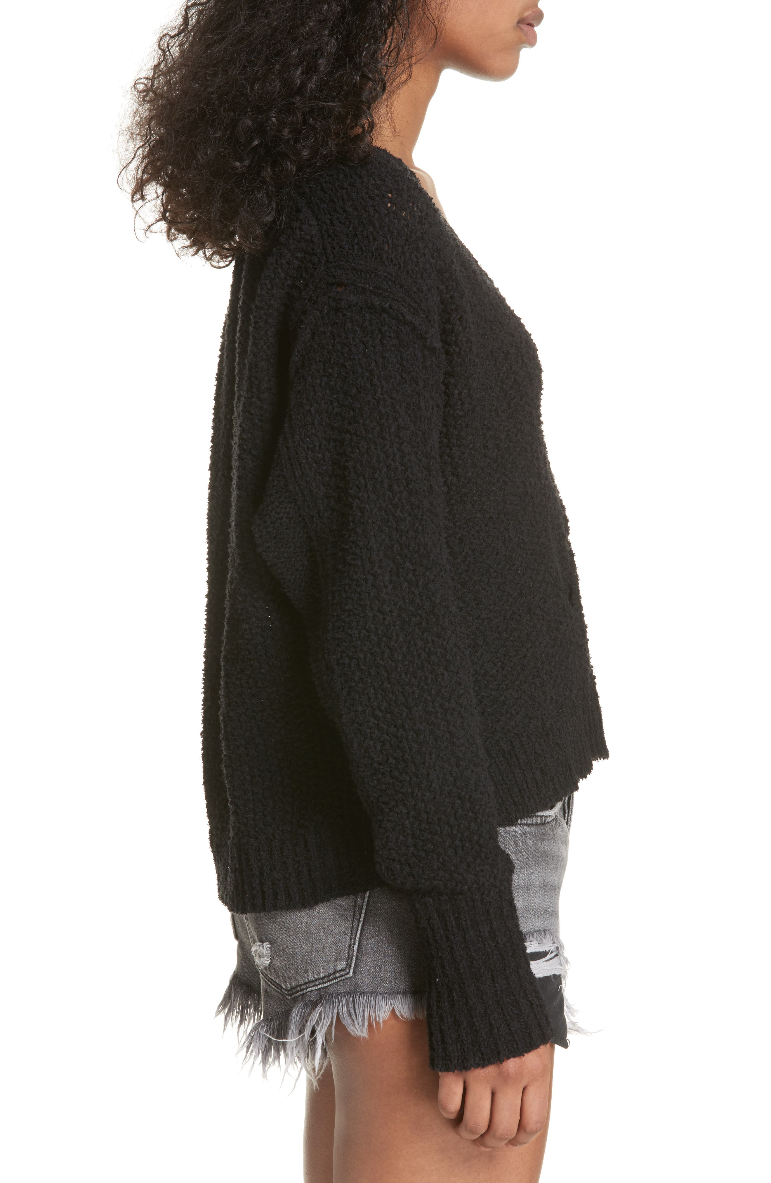 Coco V-Neck Sweater,                             Alternate thumbnail 3, color,                             001