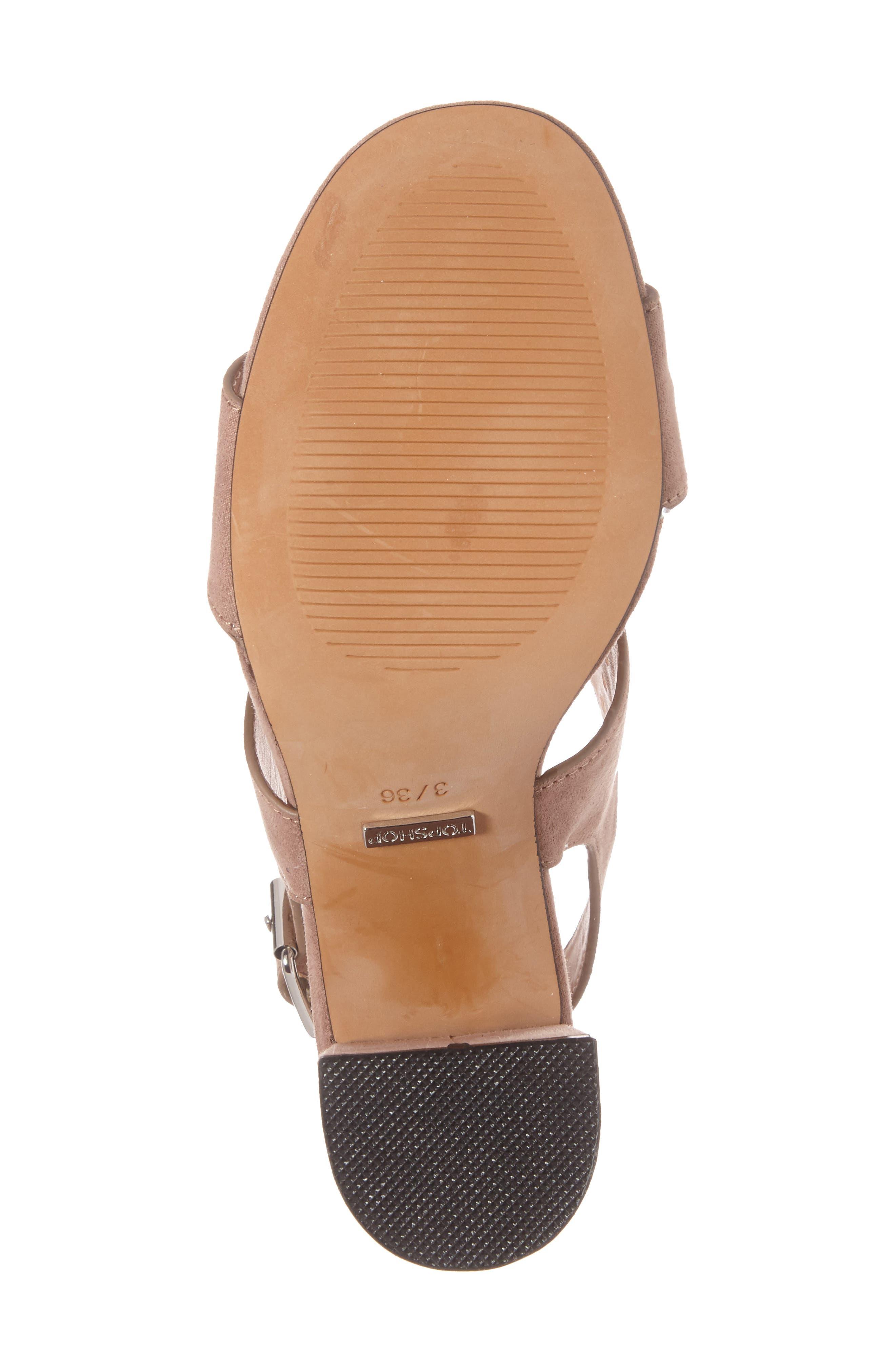 Nadia Rivet Block Heel Sandal,                             Alternate thumbnail 8, color,