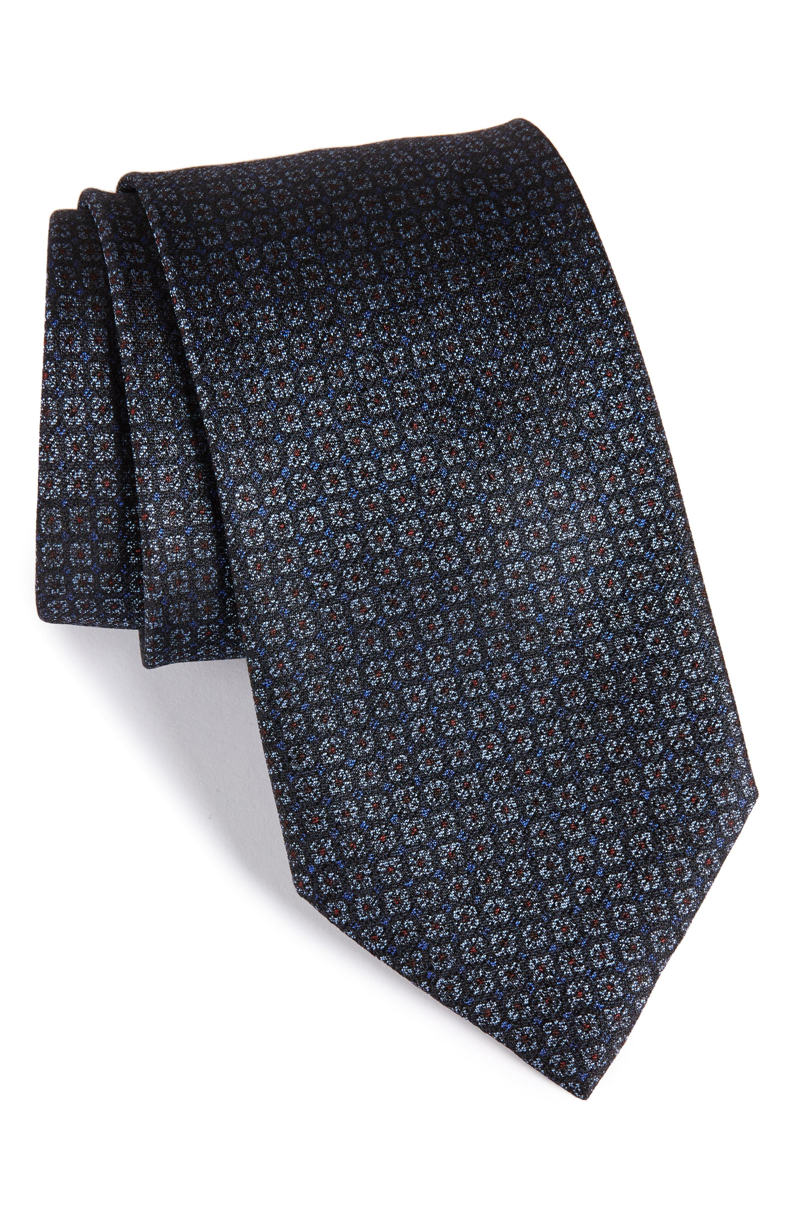 Geometric Silk Tie,                         Main,                         color, 415