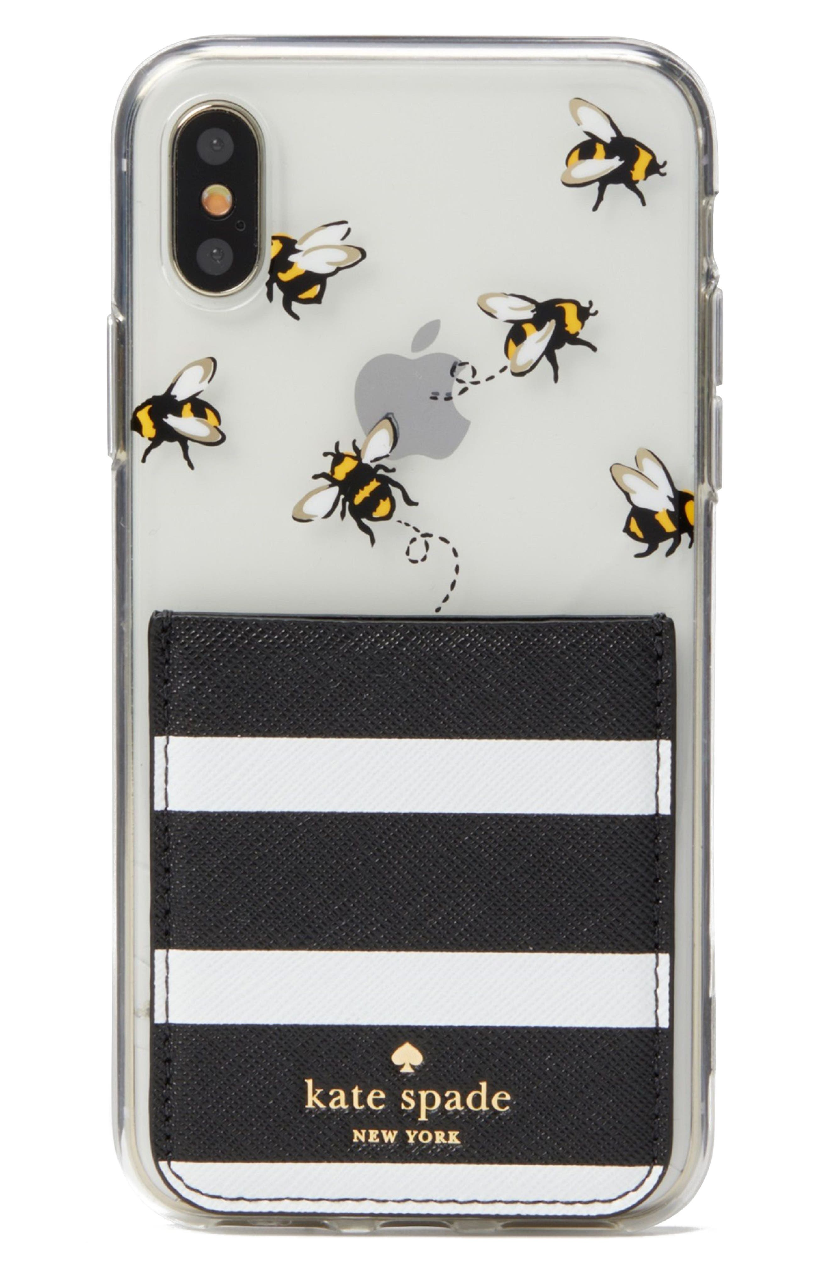 stick to it iPhone X case & sticker pocket set,                             Alternate thumbnail 7, color,
