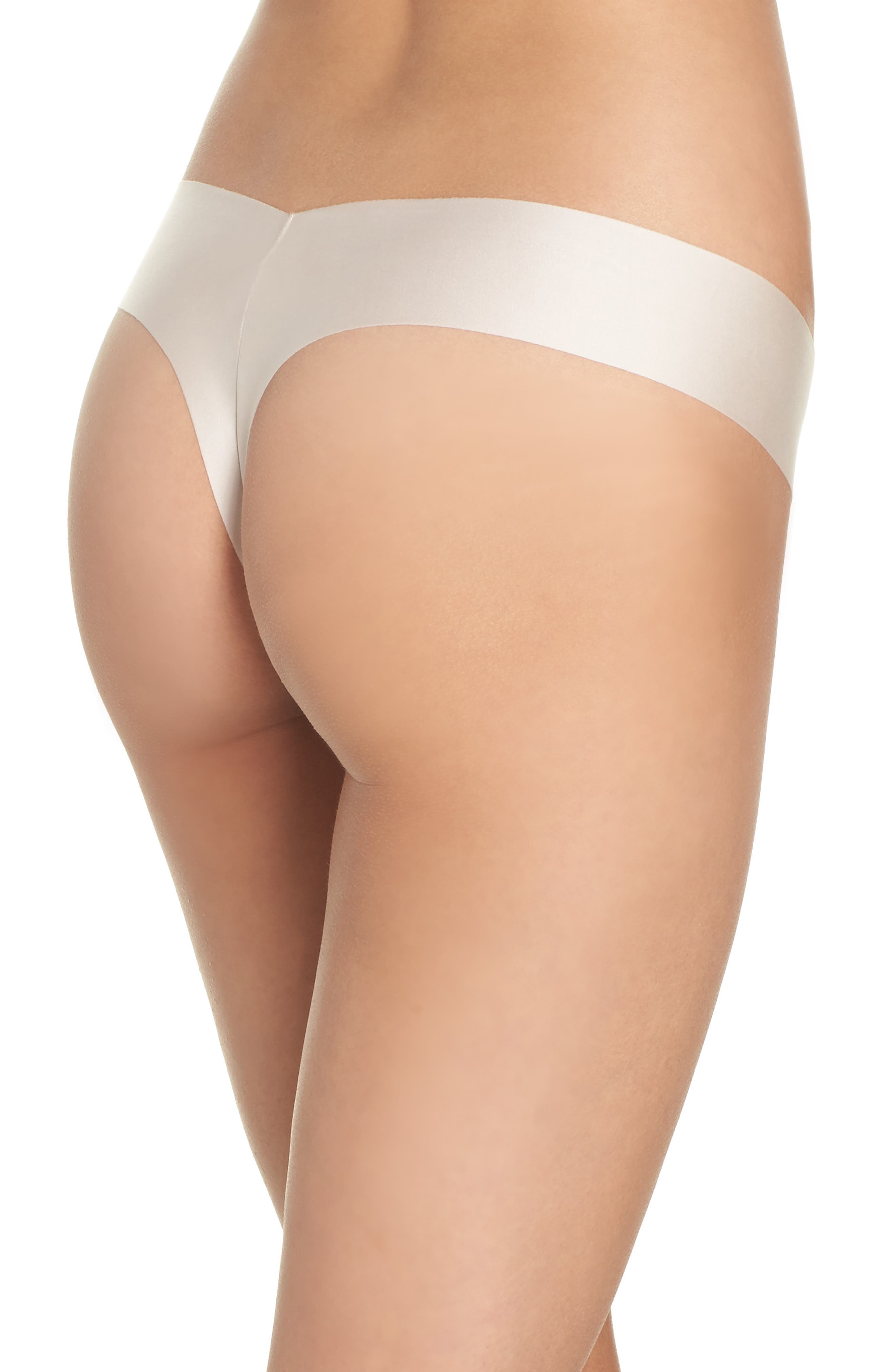 Luxe Satin Thong,                             Alternate thumbnail 6, color,