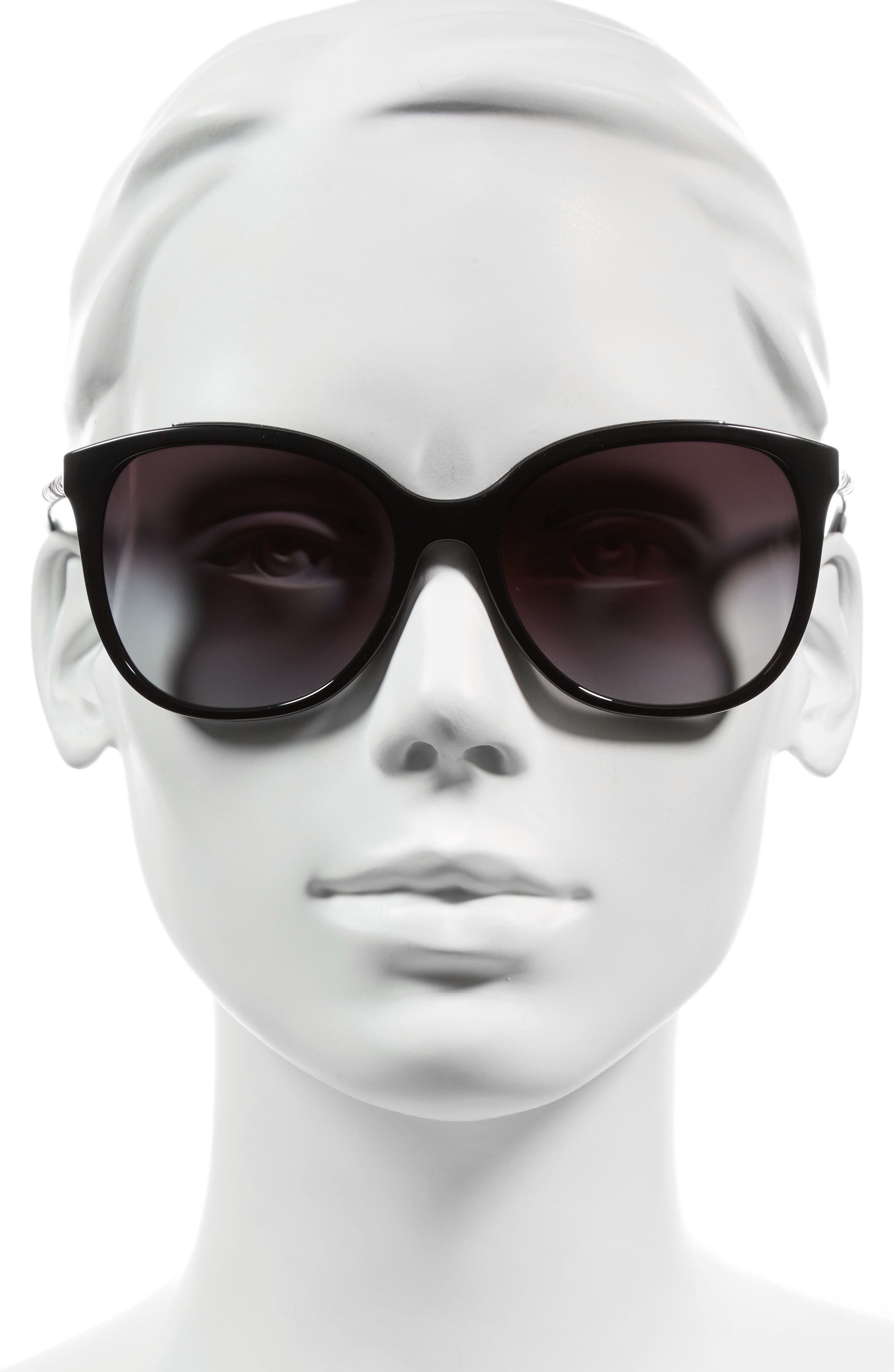 57mm Sunglasses,                             Alternate thumbnail 2, color,                             001